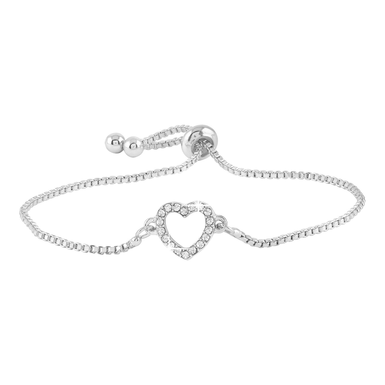 Armband - silverfärgat med hjärta
