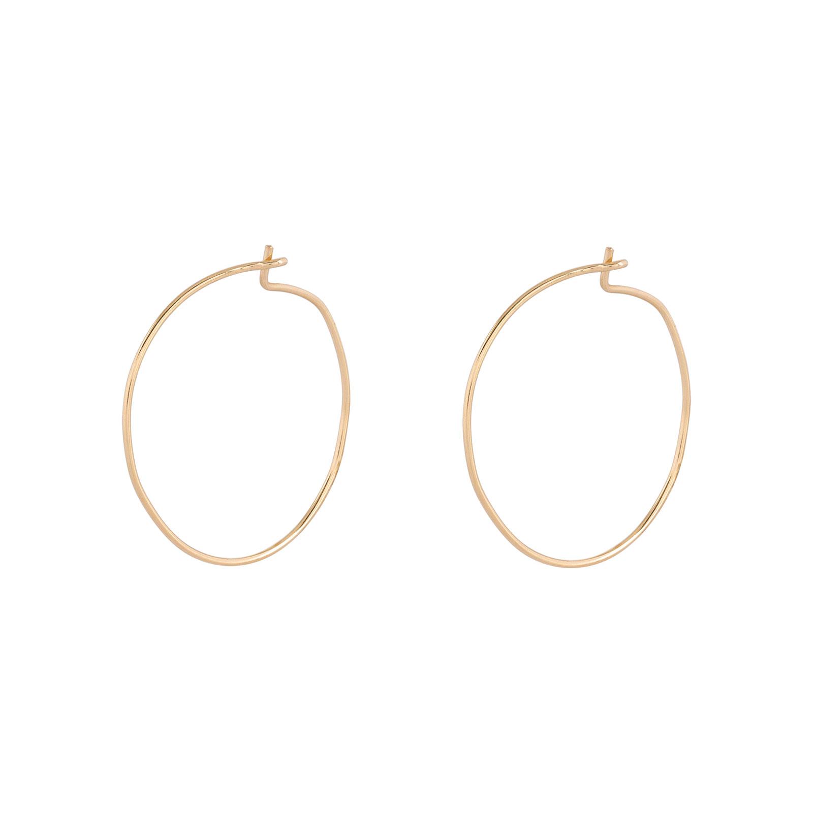 Örhängen 18k guld - Läkringar 10 mm