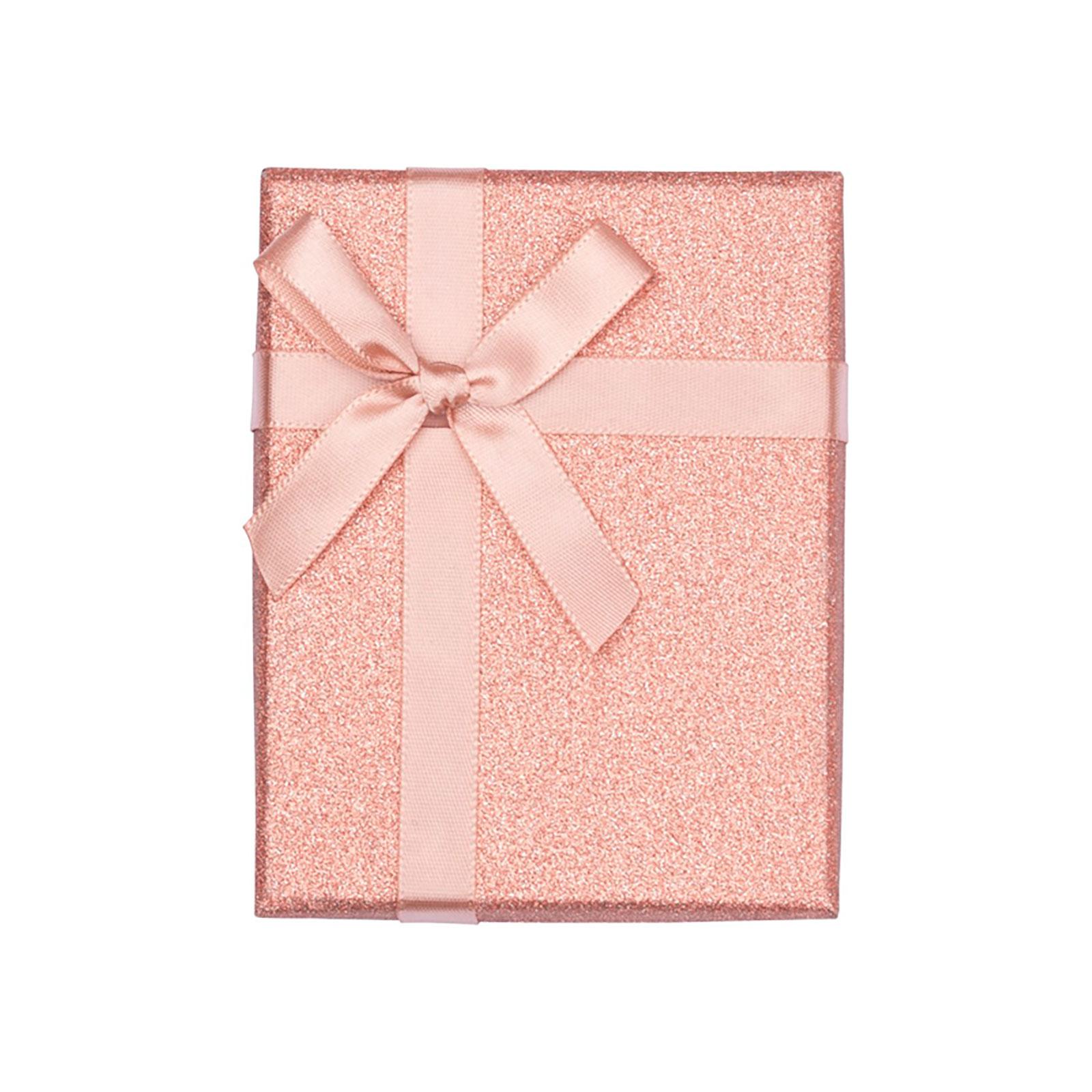 Presentask - rosa glitter 7x9 cm