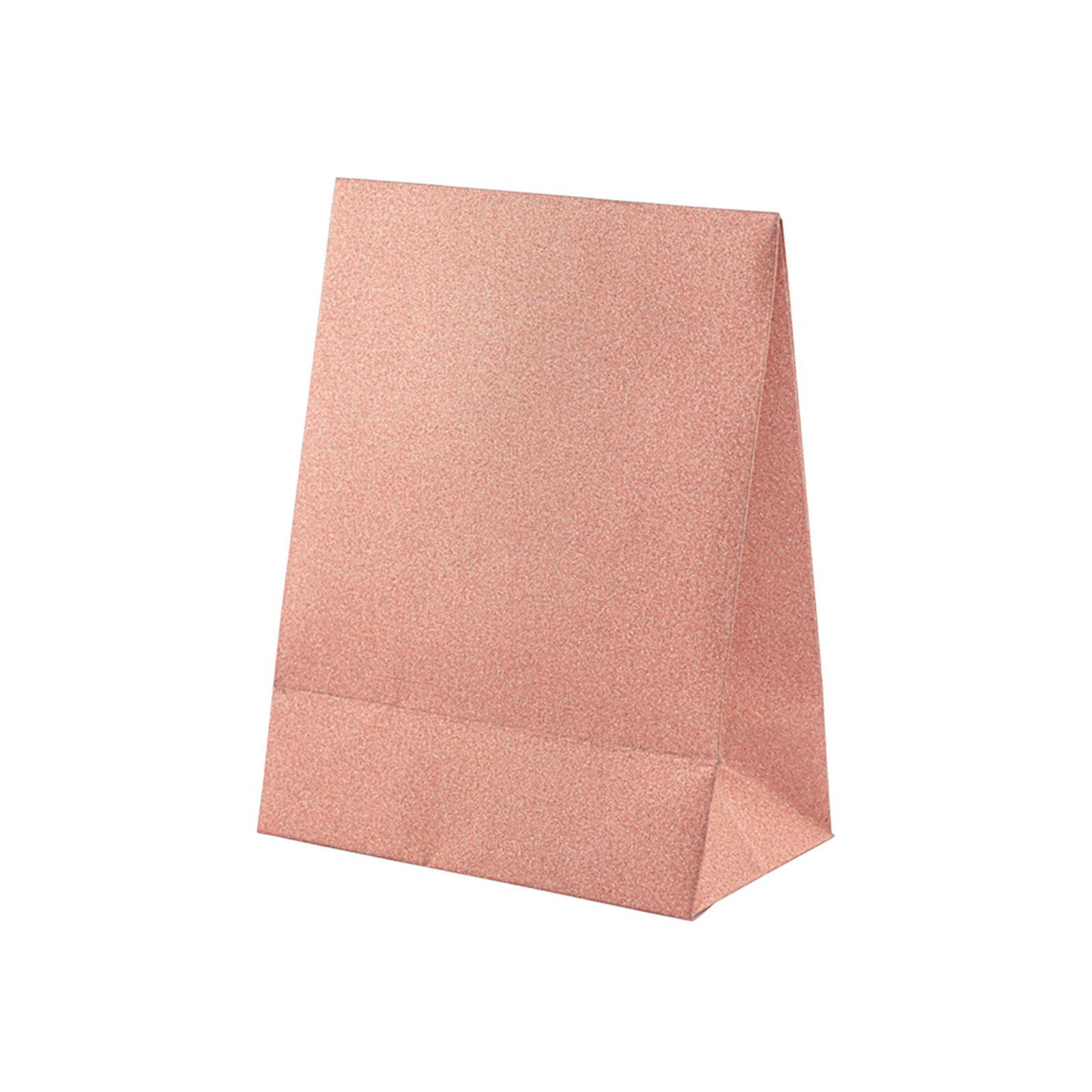 Presentpåse rosa glitter - 17x13 cm