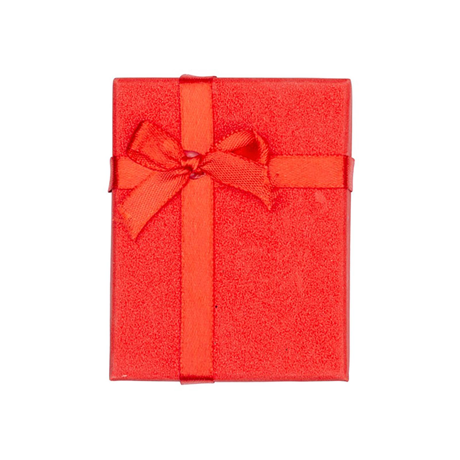 Presentask - röd glitter 7x9 cm