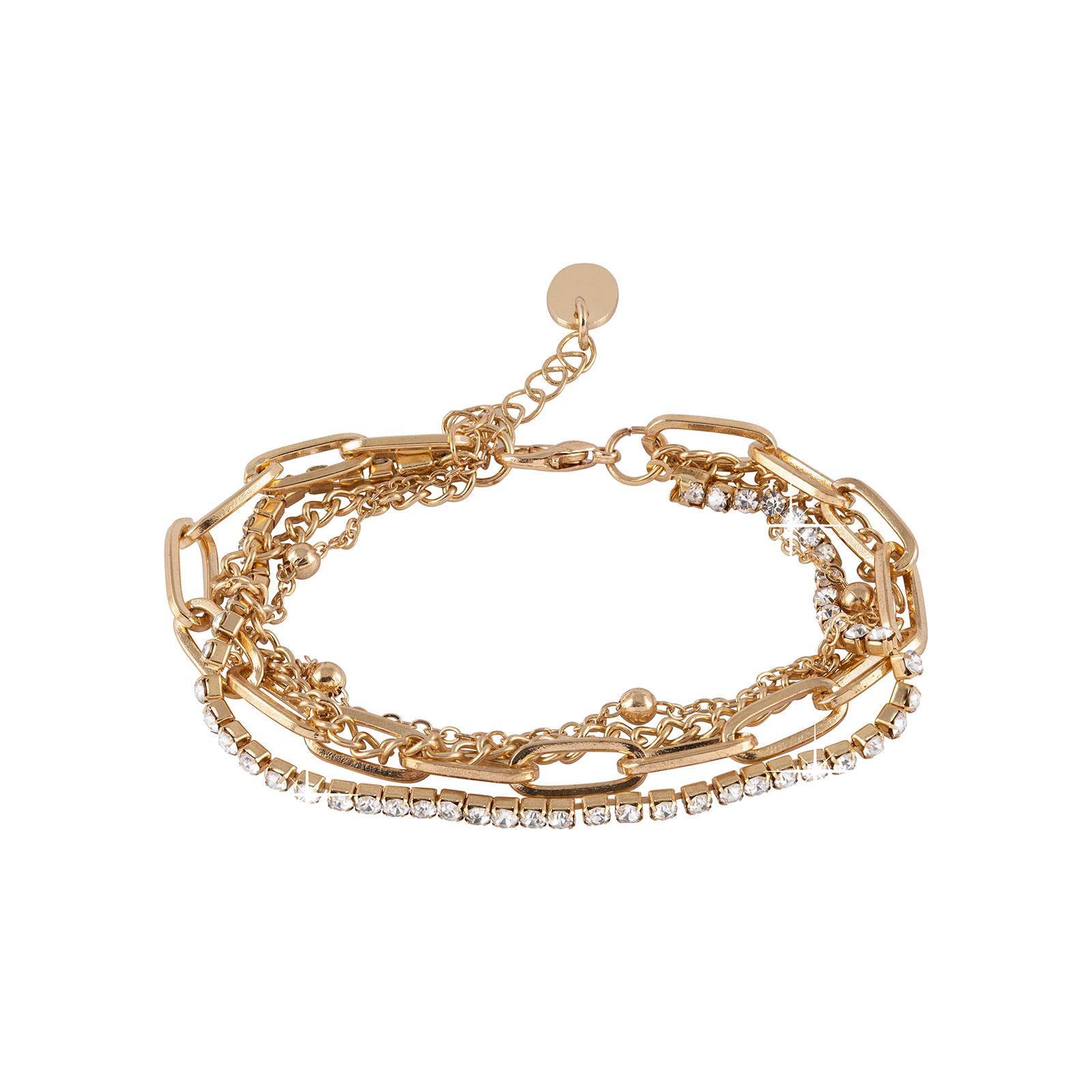 Armband - 4 guldfärgade kedjor