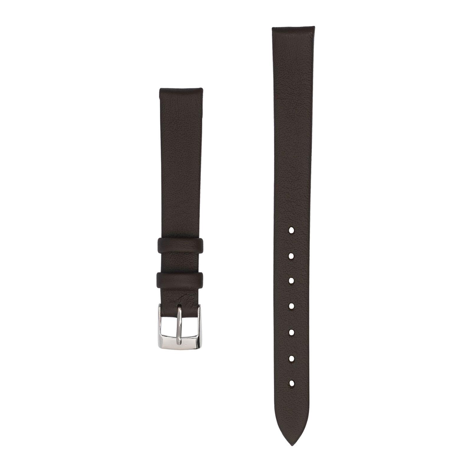 Klockarmband 12 mm - brunt läder