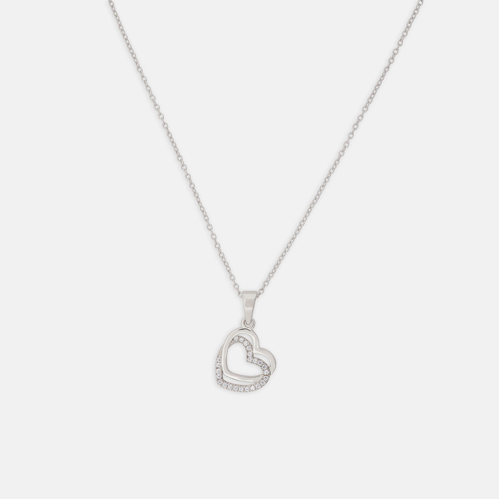 Sterling Silver 925 Halsband med hjärta