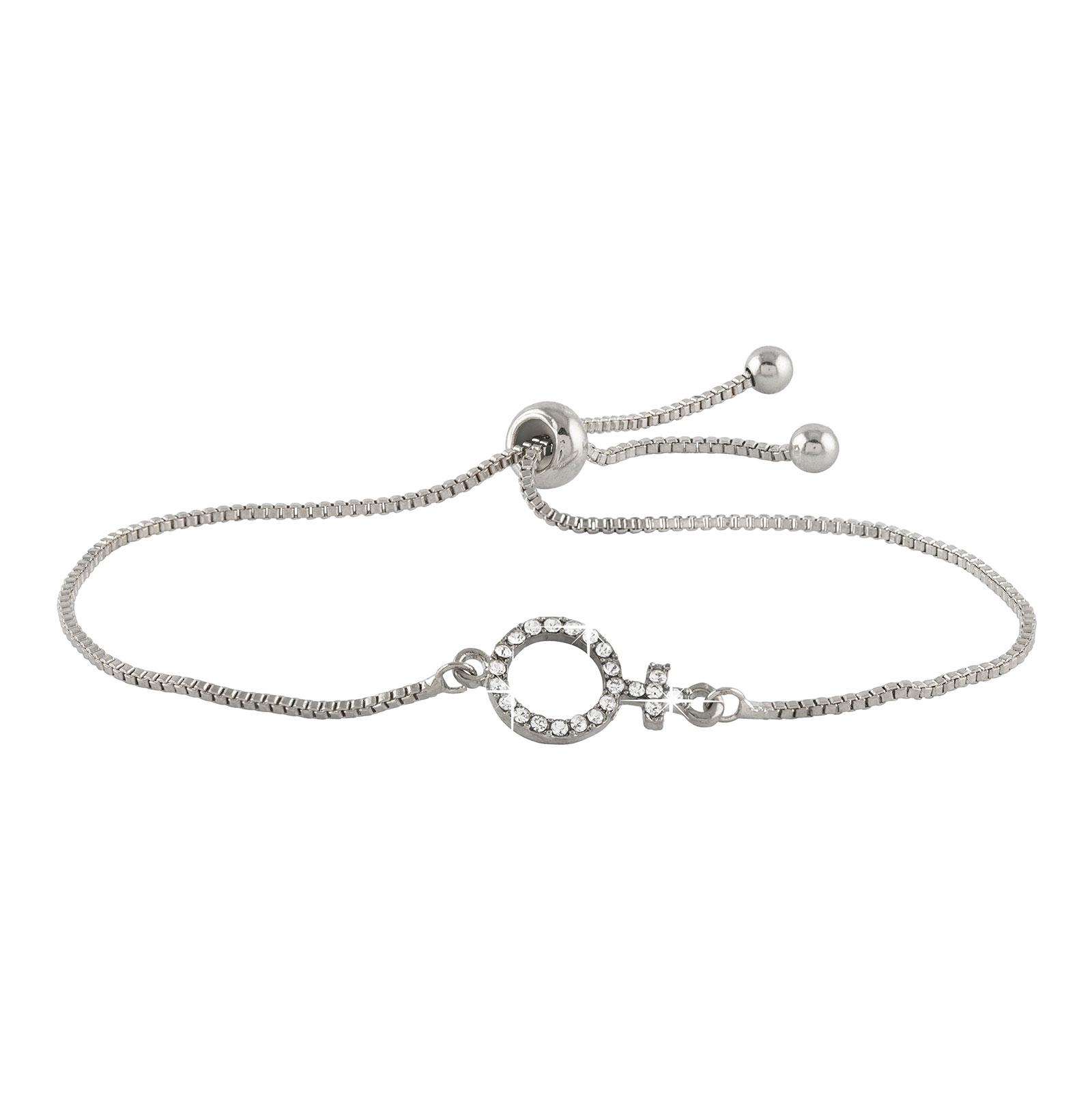 Armband - Silverfärgat med kvinnosymbol