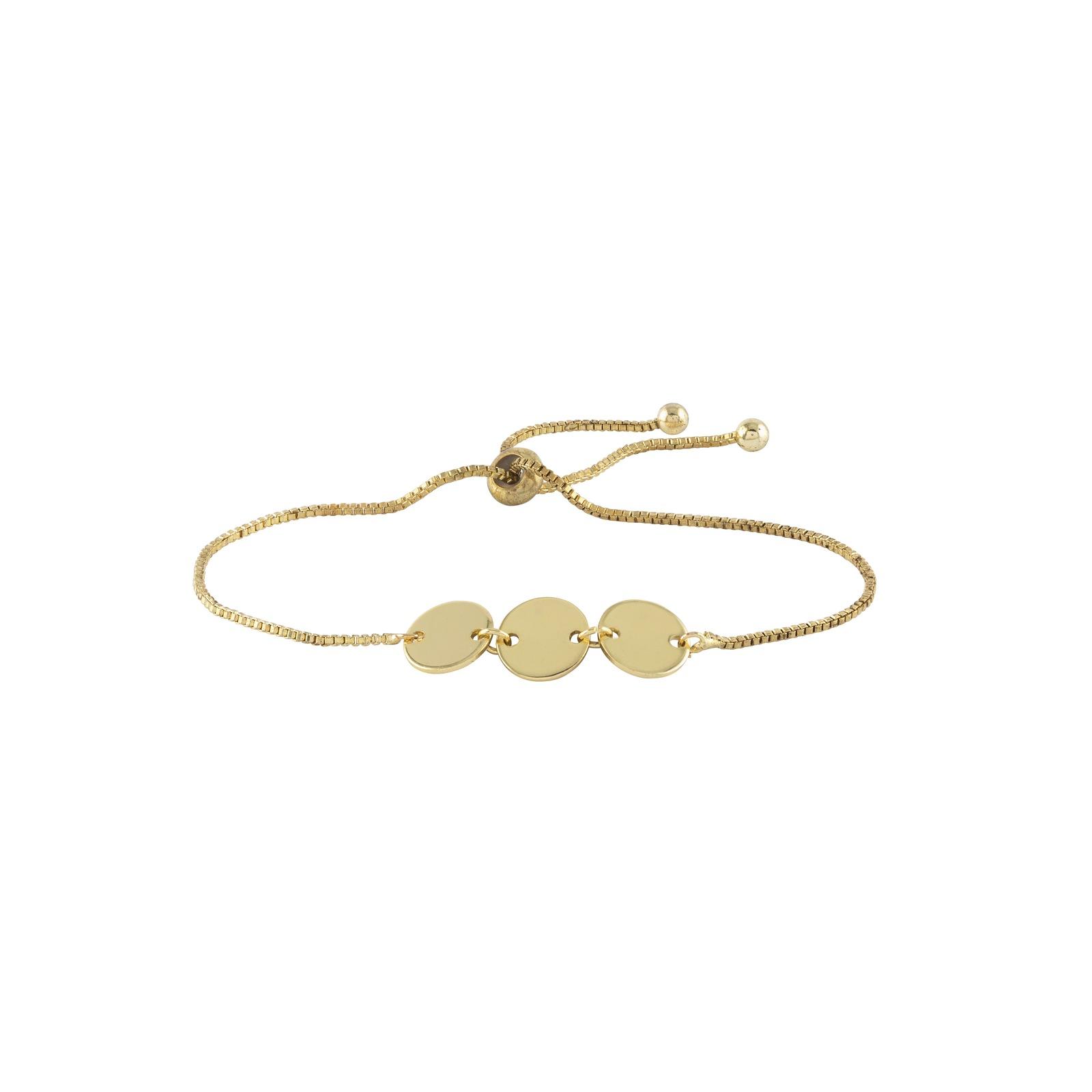Armband - Guldfärgat med tre plattor