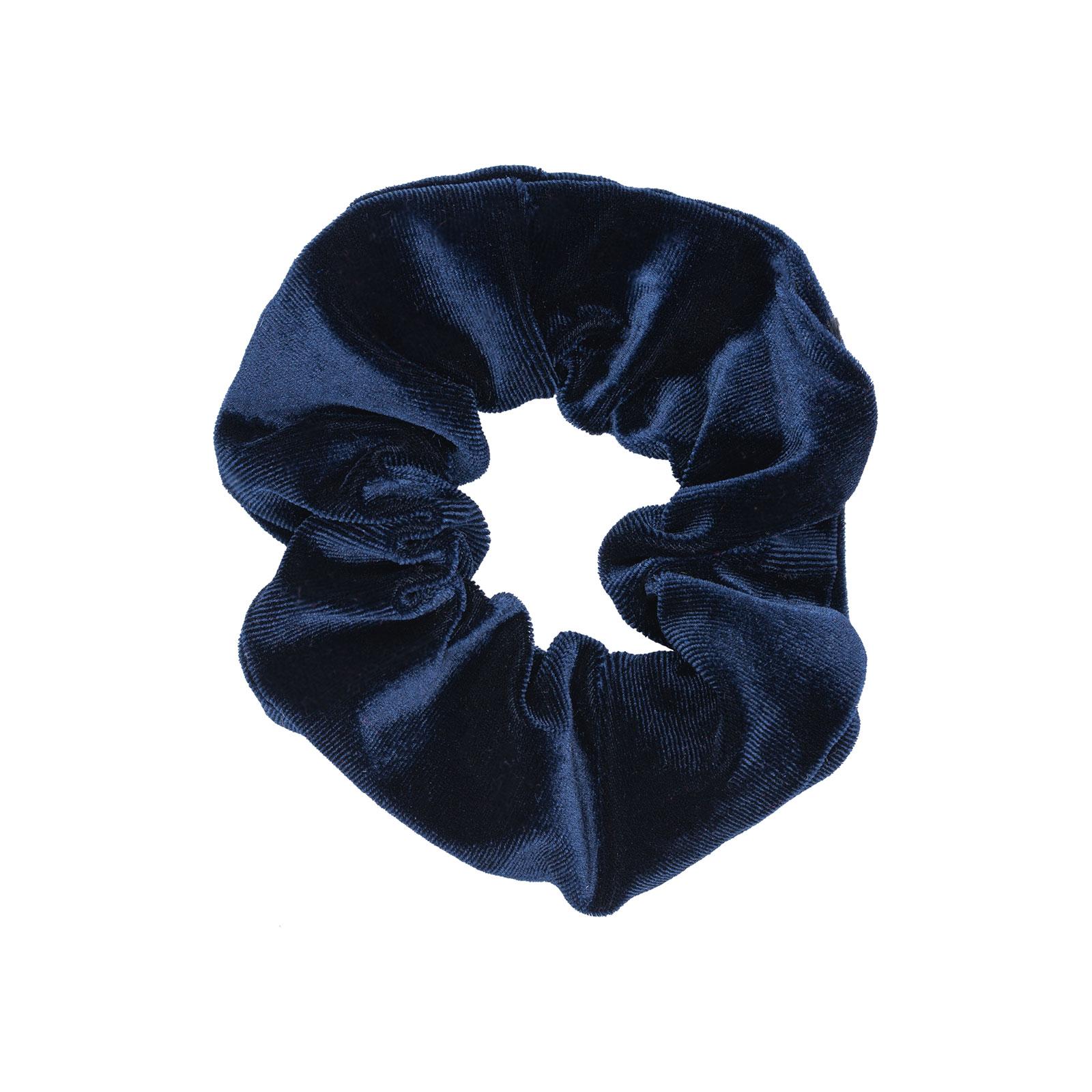 Scrunchie - marinblå sammet
