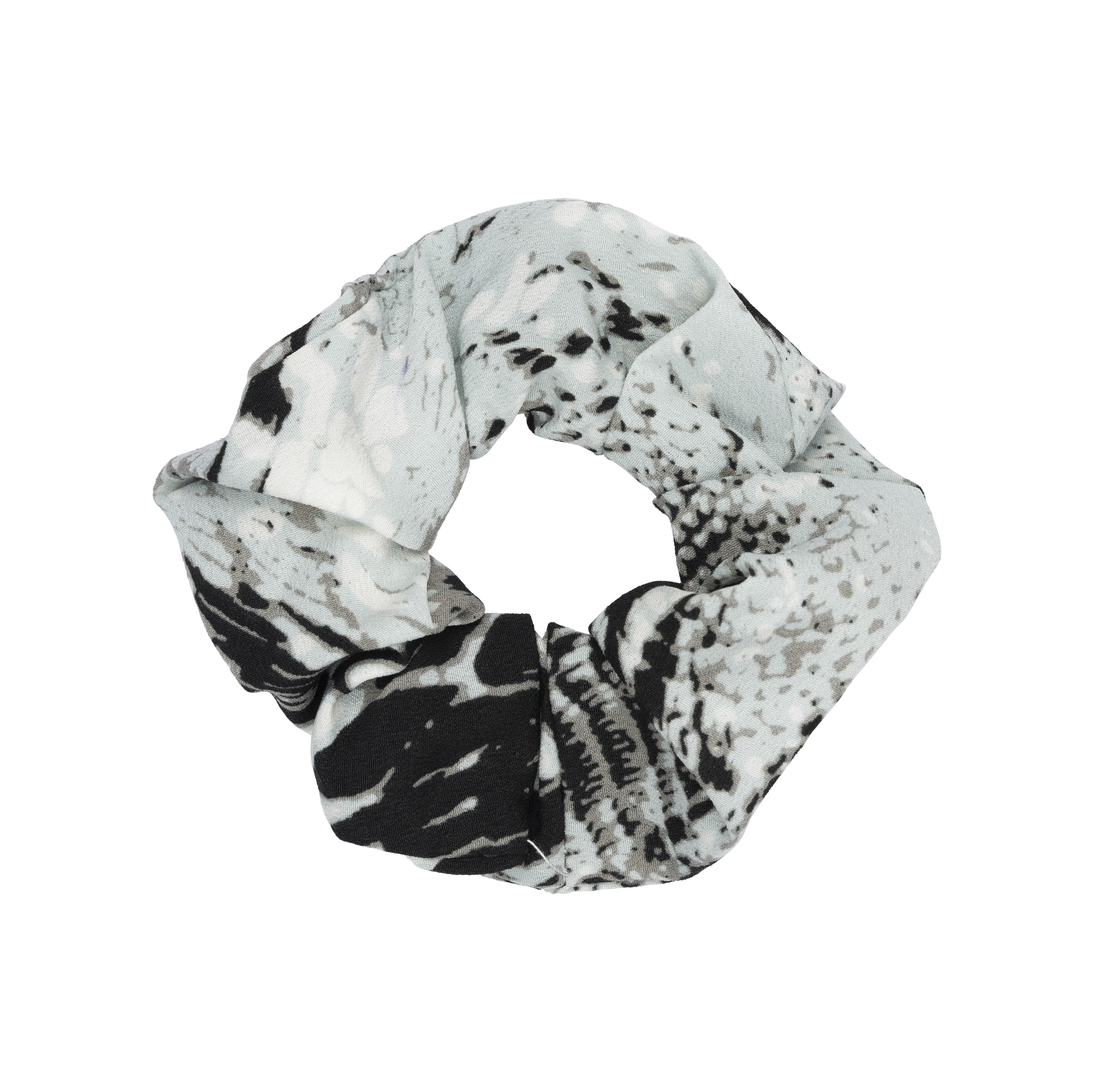 Scrunchie medium - grå snake