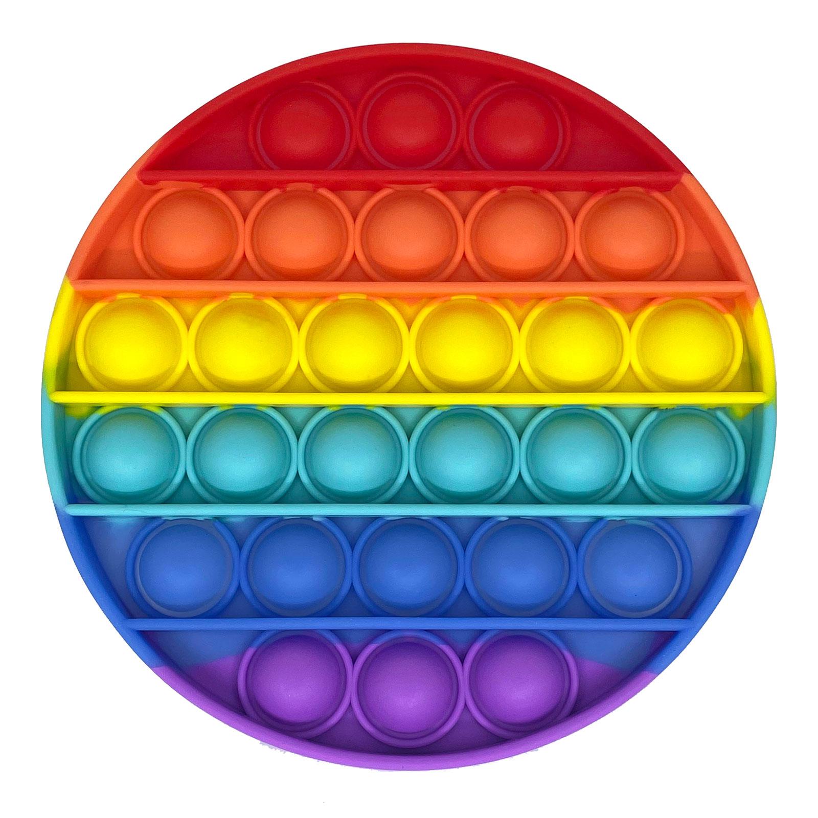 Pop It Fidget - rund regnbågsfärgad