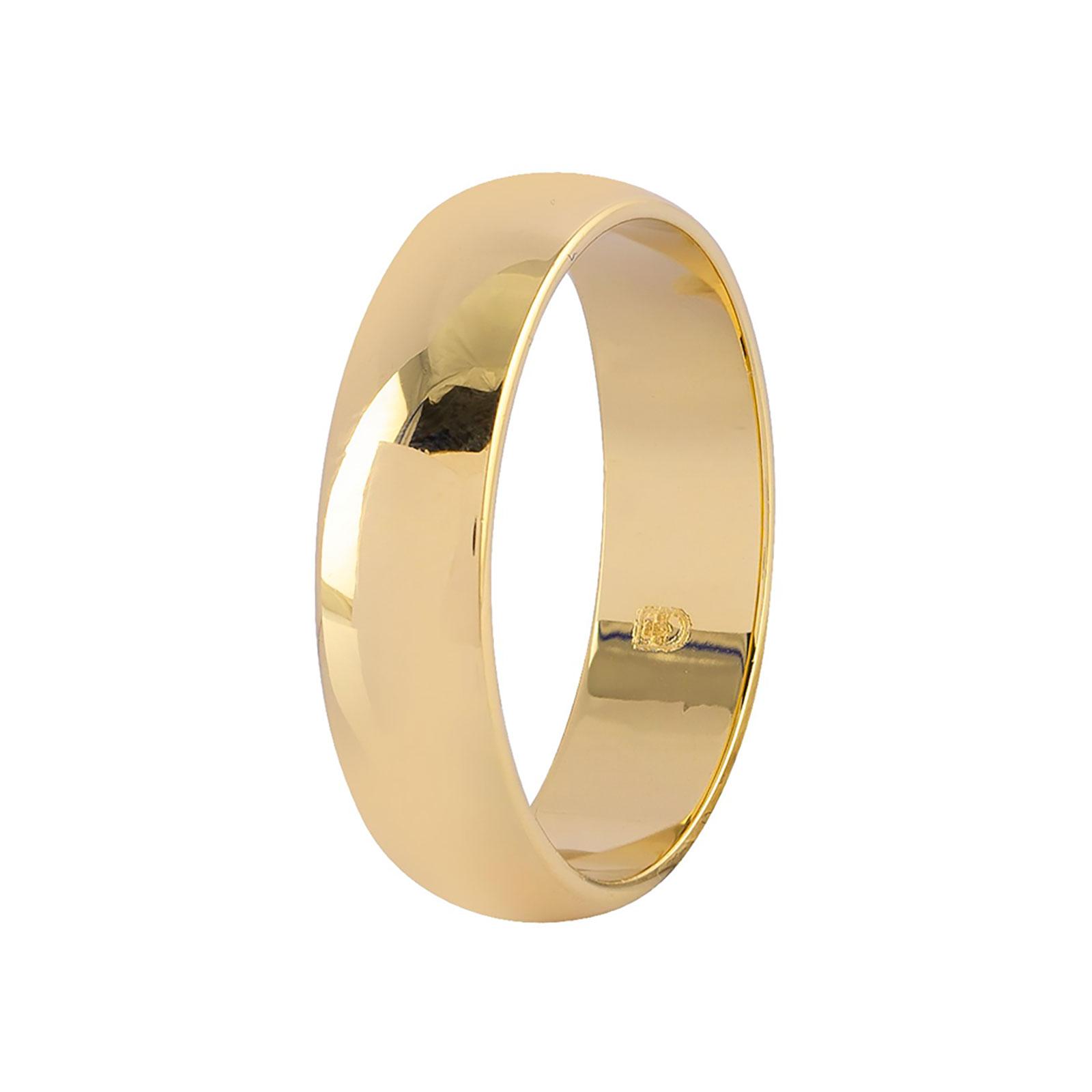 Guldpläterad ring - slät 5 mm bred