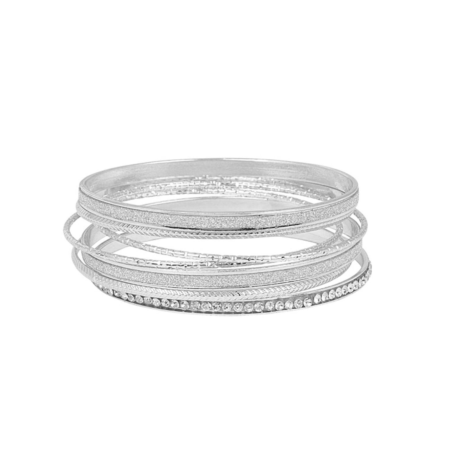 Armband 8-pack - silverfärgade