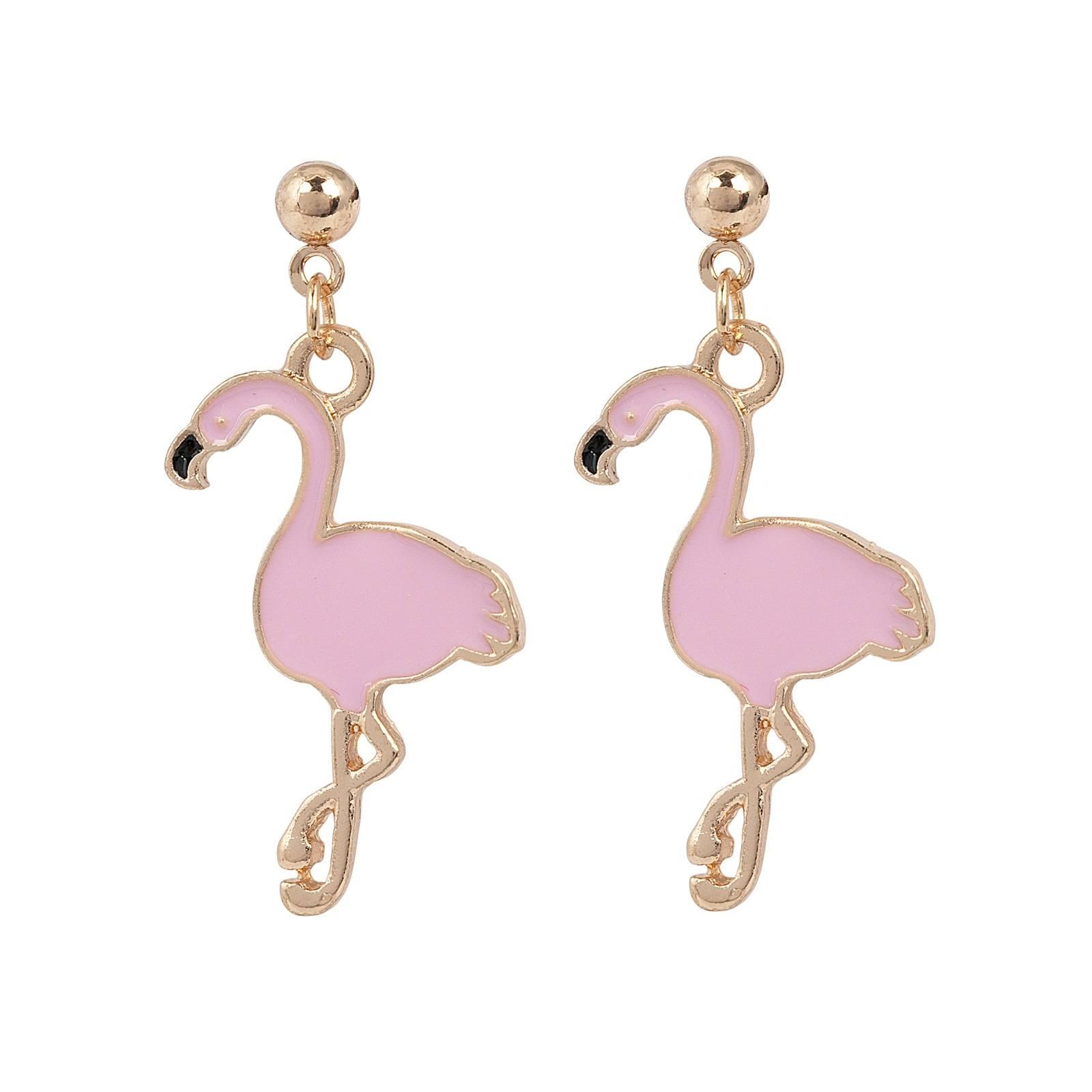 Montini Örhängen Pink Flamingo