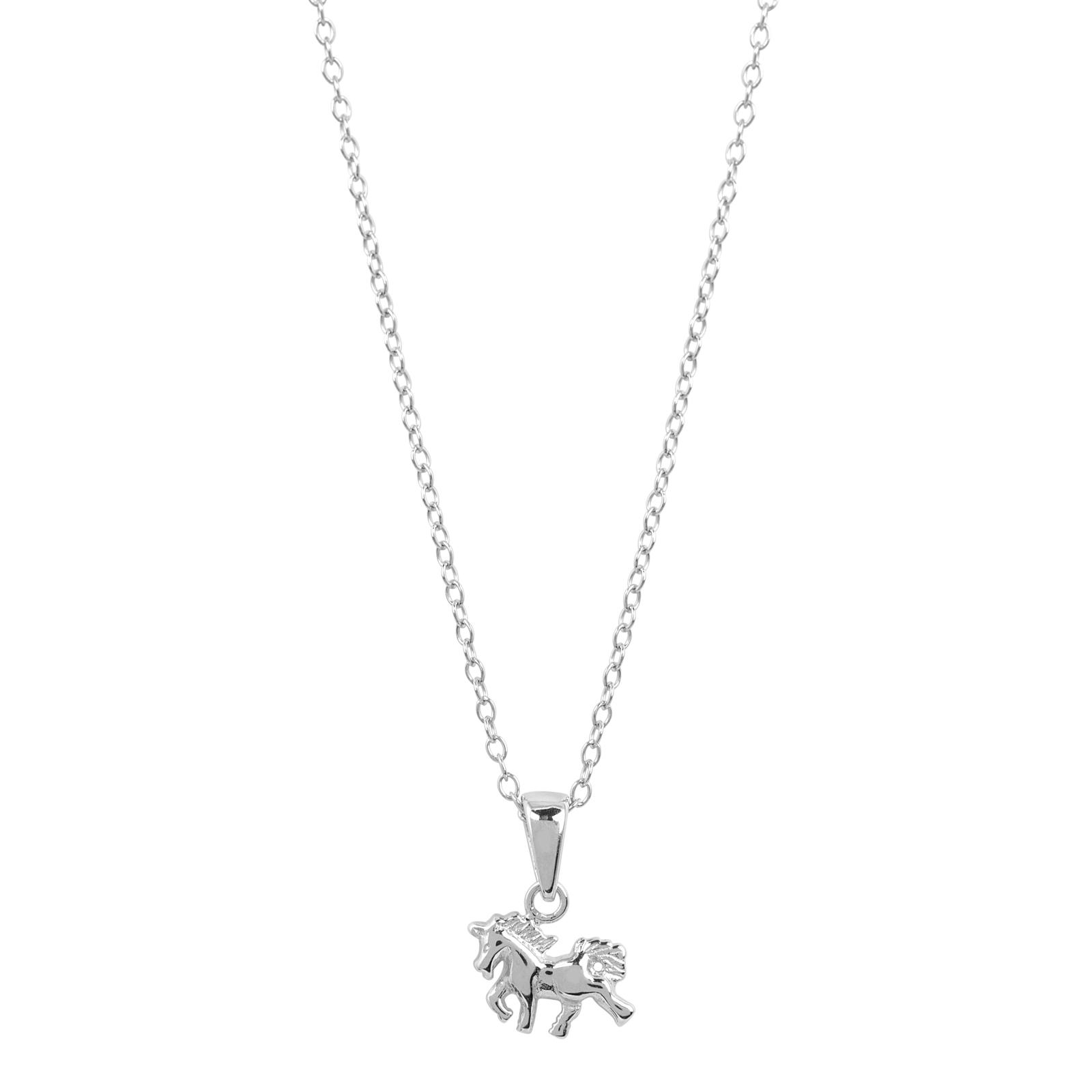 Halsband för barn i Sterling Silver -Häst