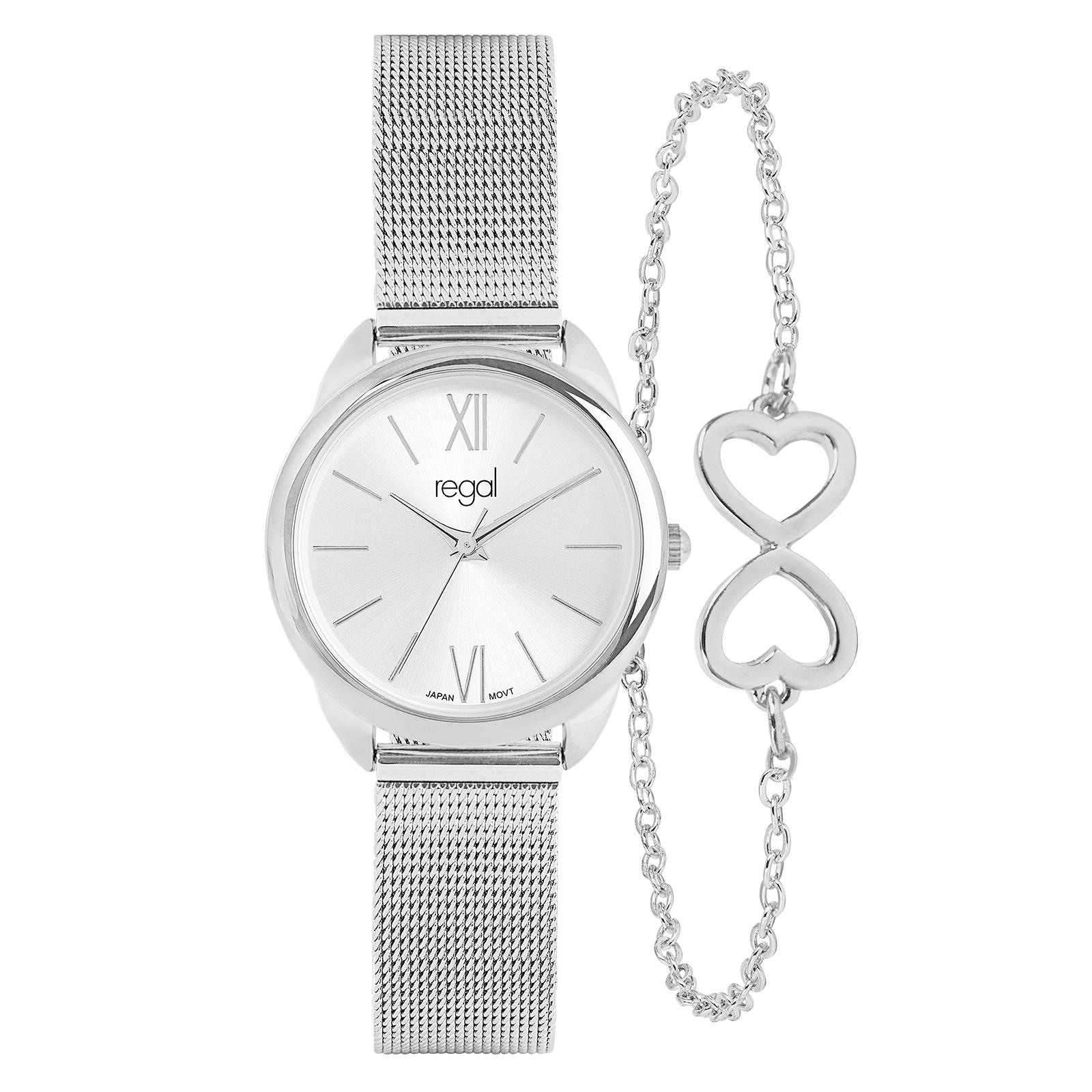 Regal Damklocka Silver med Armband