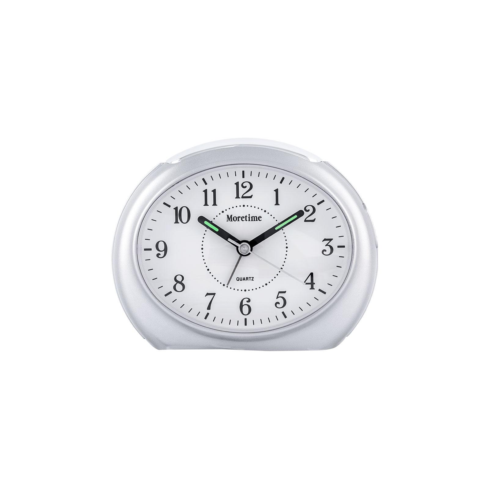 Oval väckarklocka - Silver