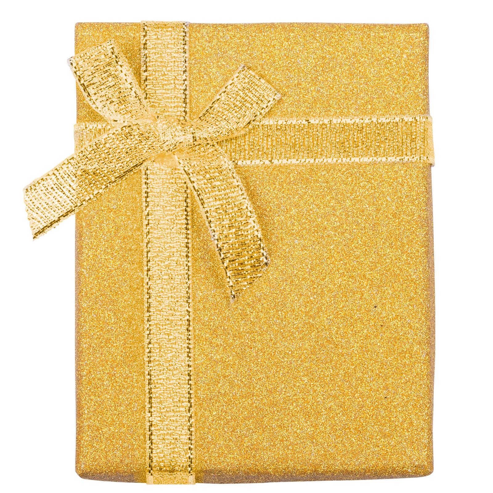 Presentask guldglitter - 7x9 cm