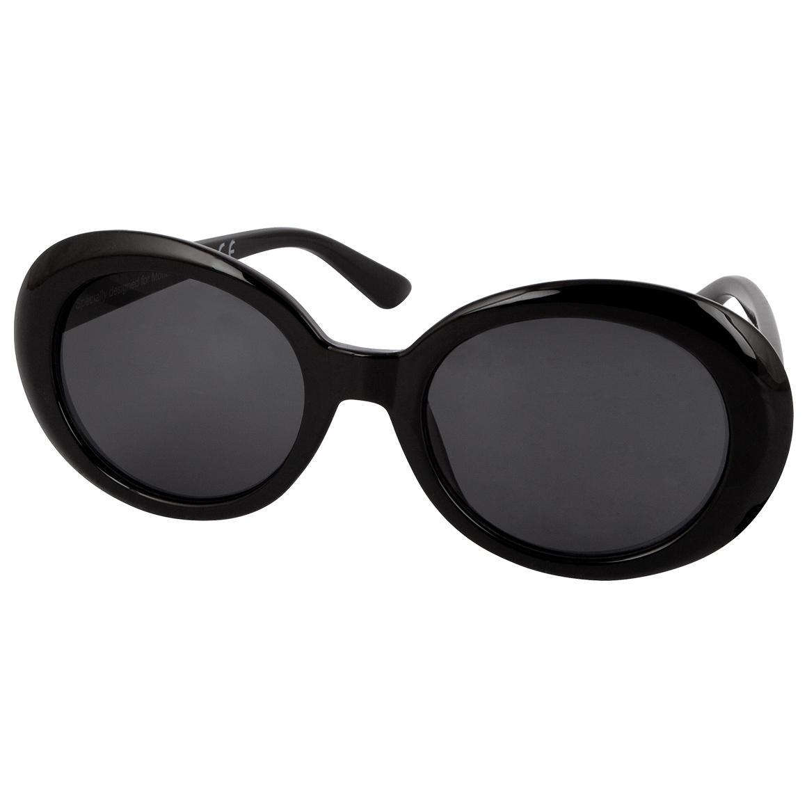 Solglasögon Runda Svarta