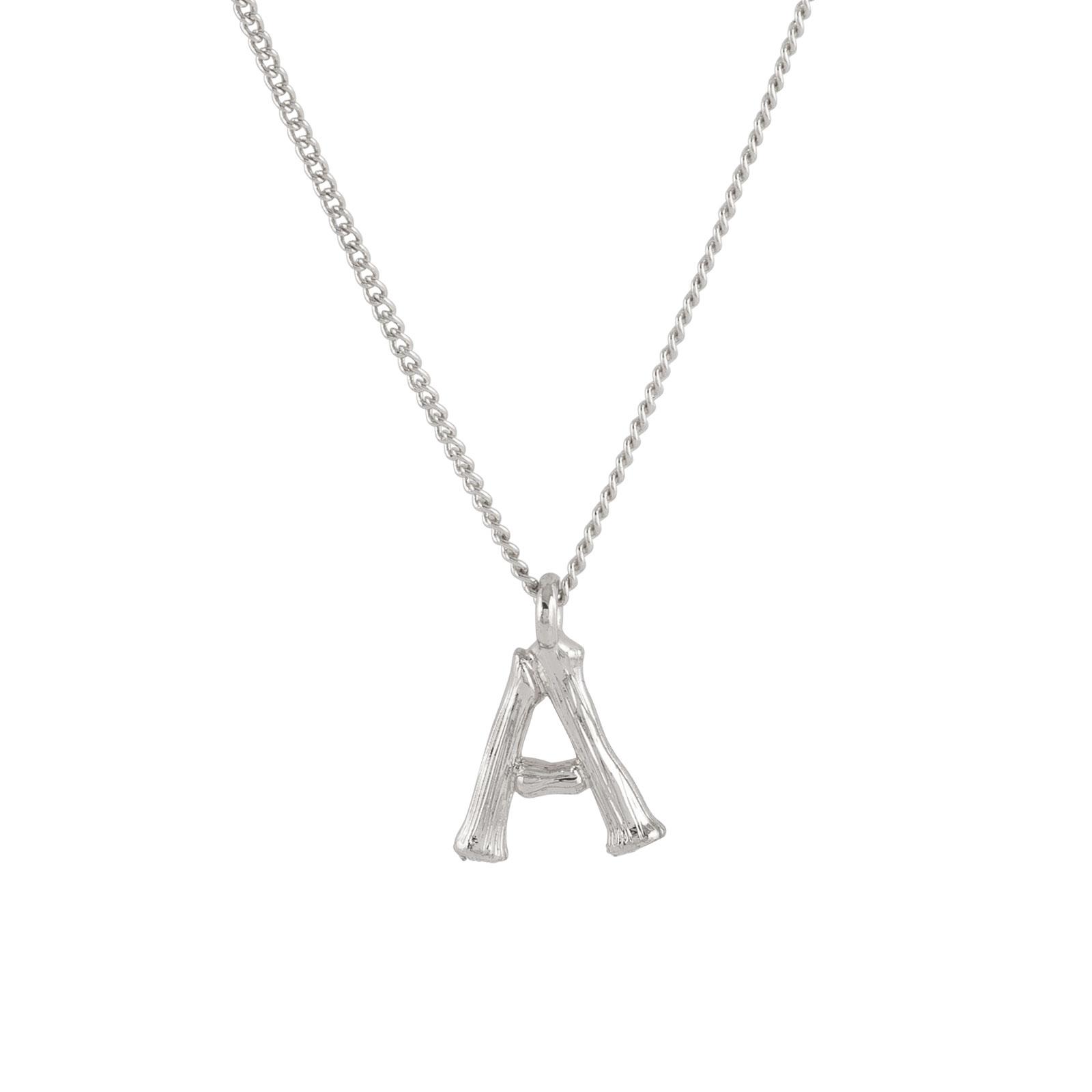 Halsband med bokstäver a-z Silver