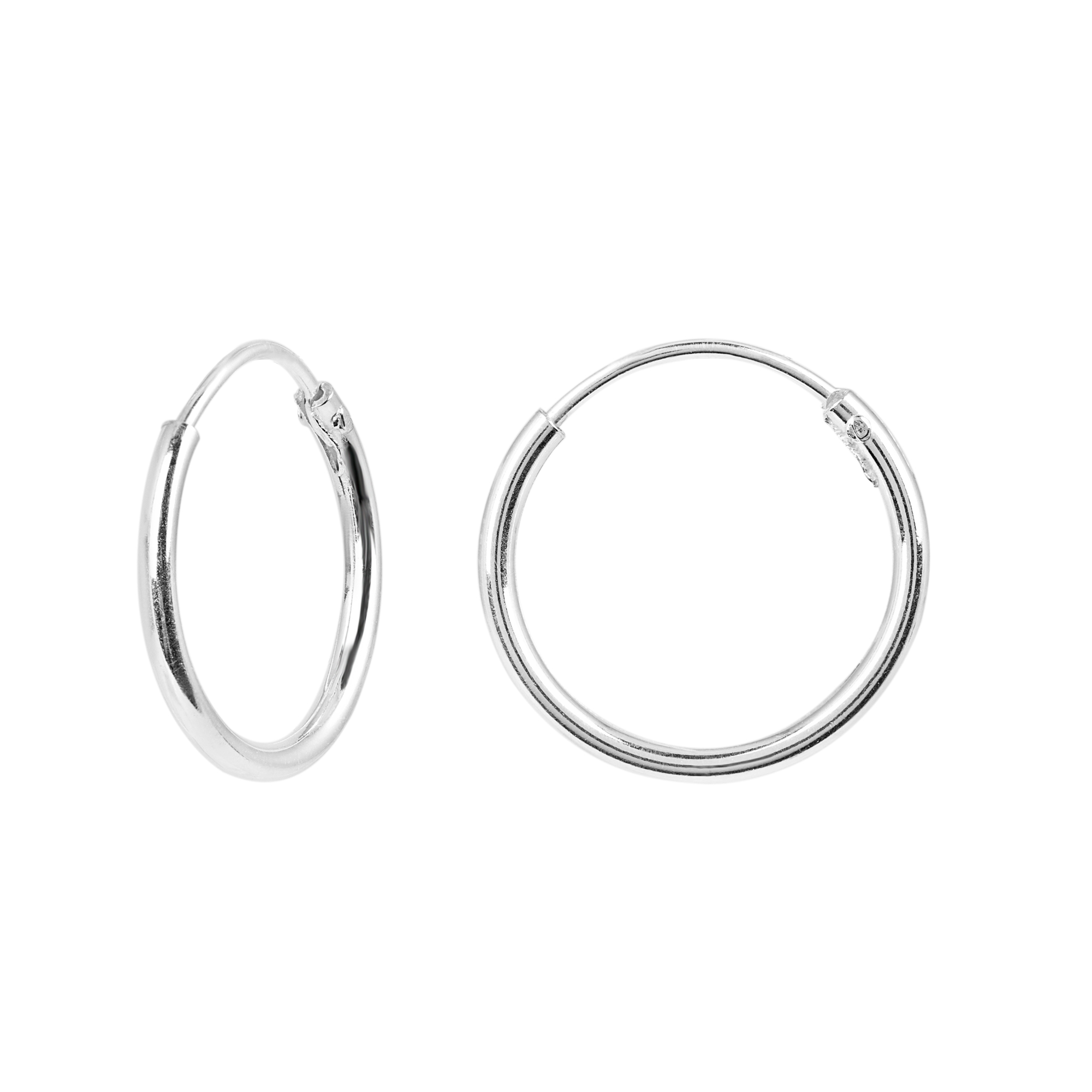 Örhängen i Sterling Silver- Hoops 14 mm