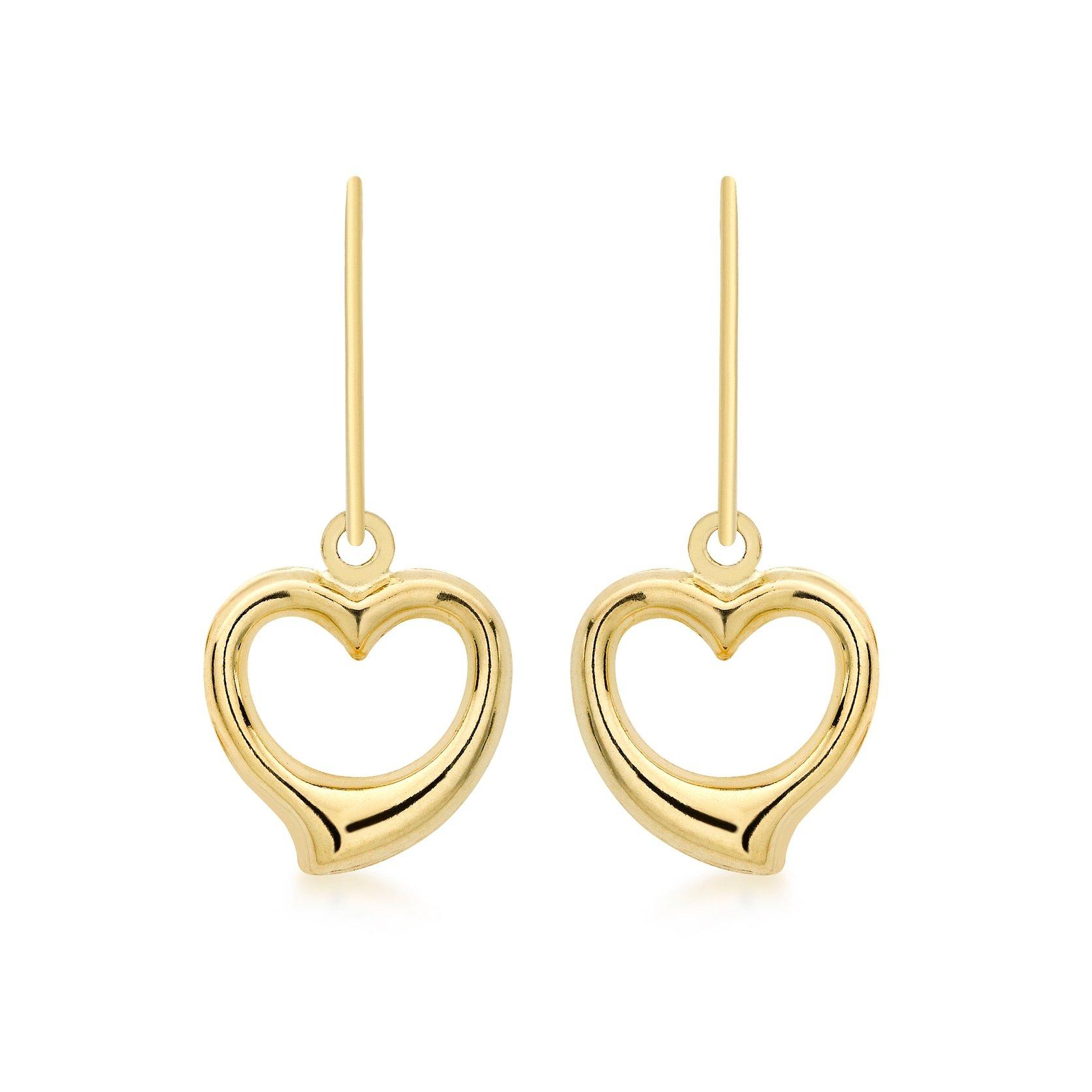 Örhängen 9K Guld - Hängande hjärtan