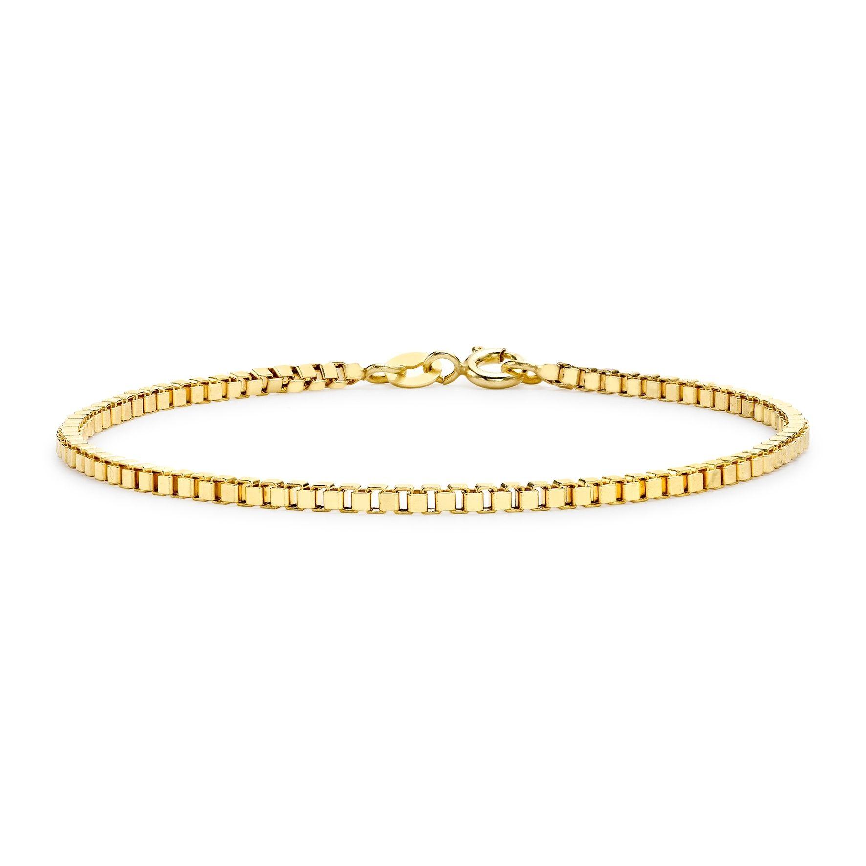 Armband 9K Guld - Venezialänk 19 cm