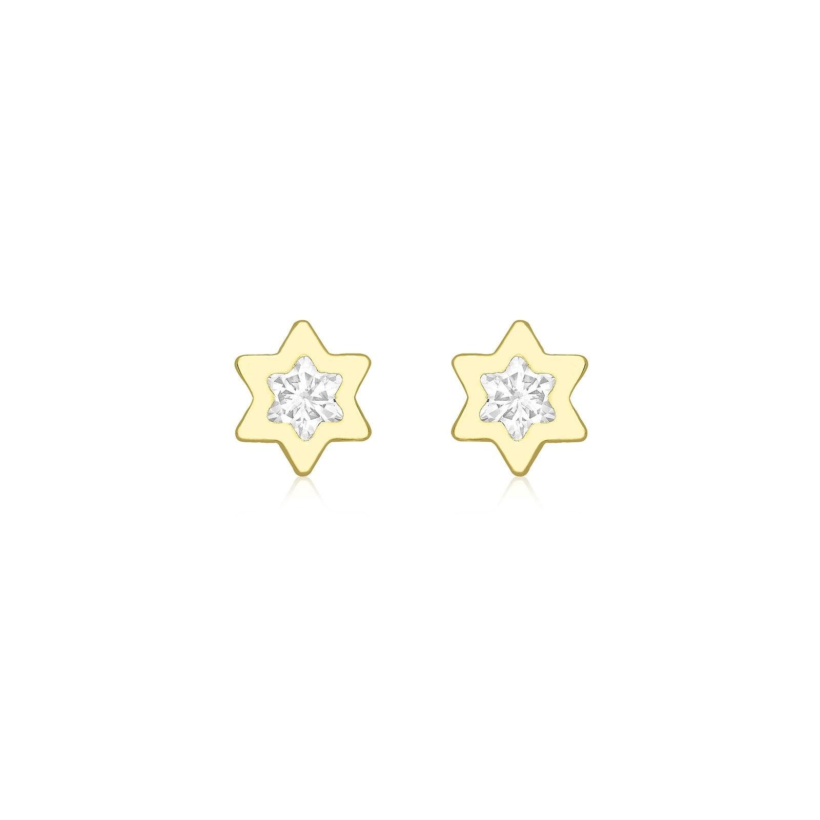 Örhängen för barn 9K Guld - Stjärna