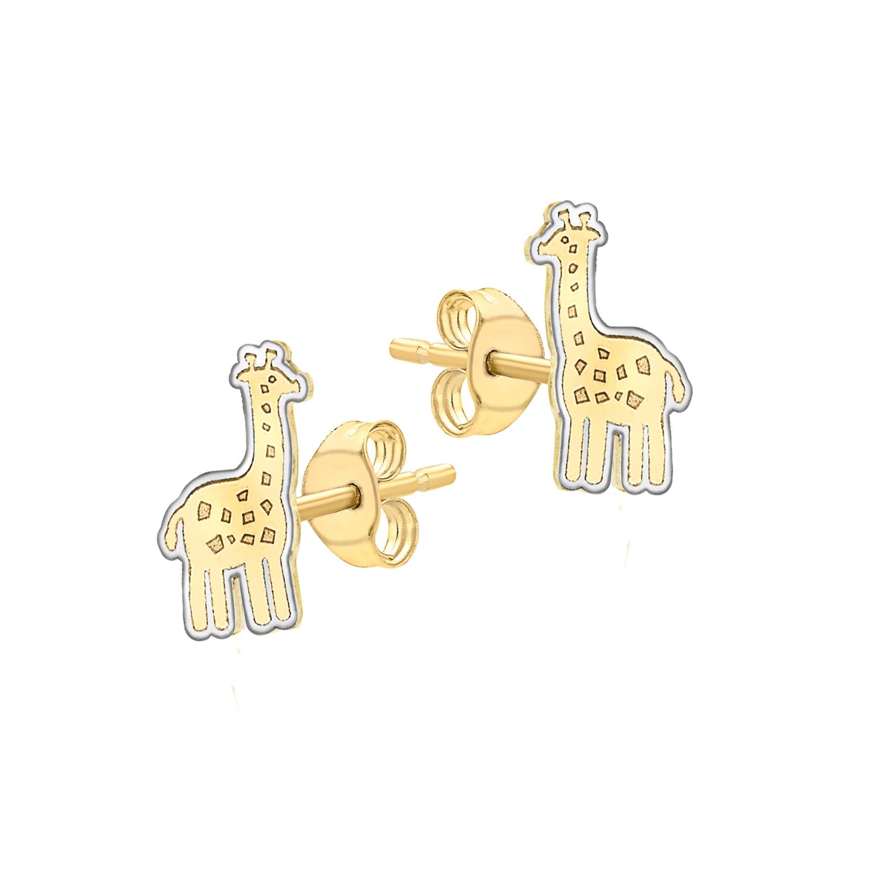 Örhängen för barn 9K Guld - Giraffer