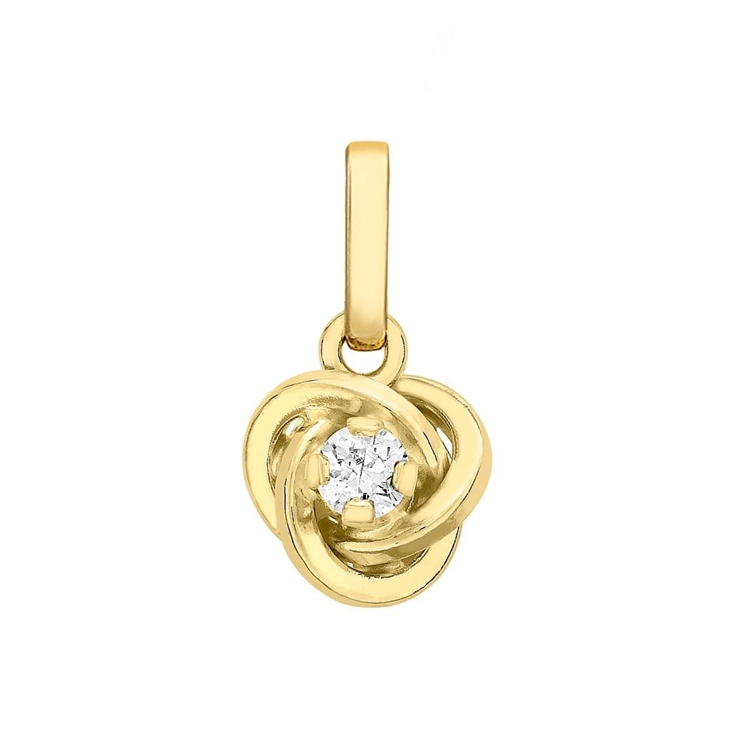 Berlock 9K Guld -Knut 7 mm