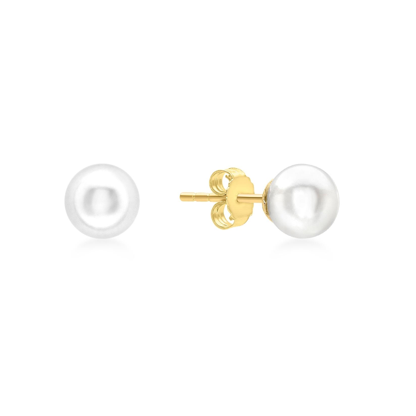 Örhängen 9K Guld - Pärlörhängen 6 mm