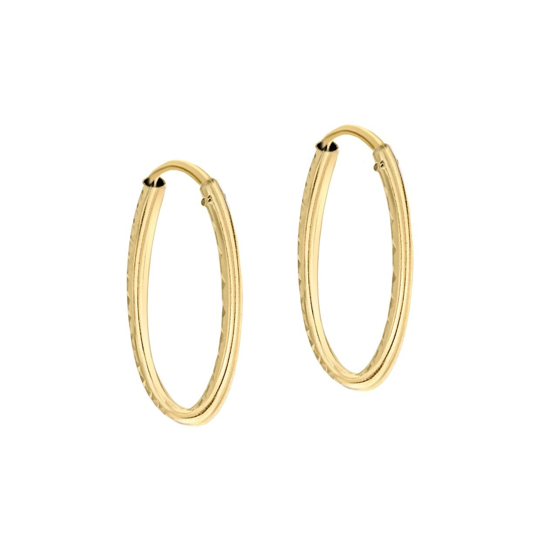 Örhängen 9K Guld - Hoops 18 mm