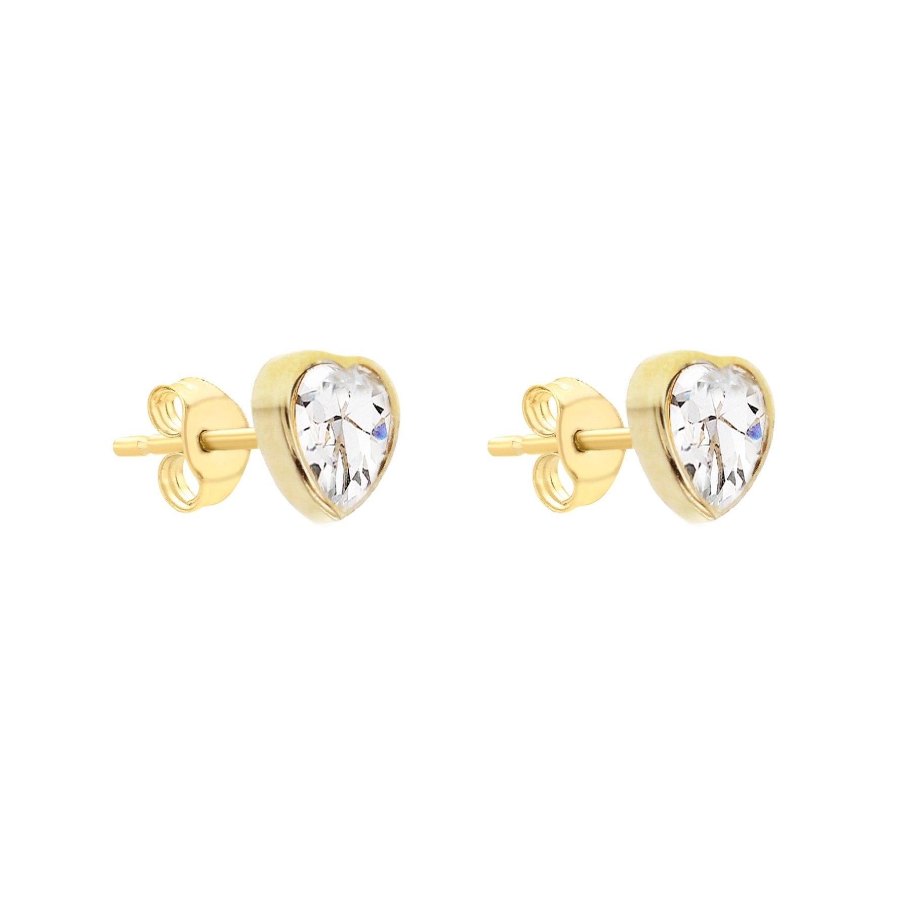 Örhängen 9K Guld - Hjärtformade