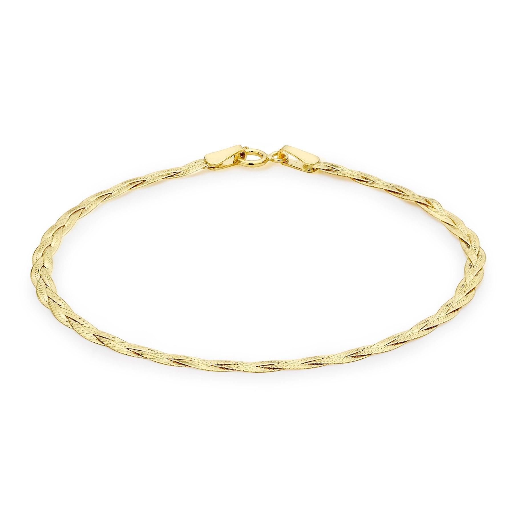 Armband 9K Guld - Herringbone