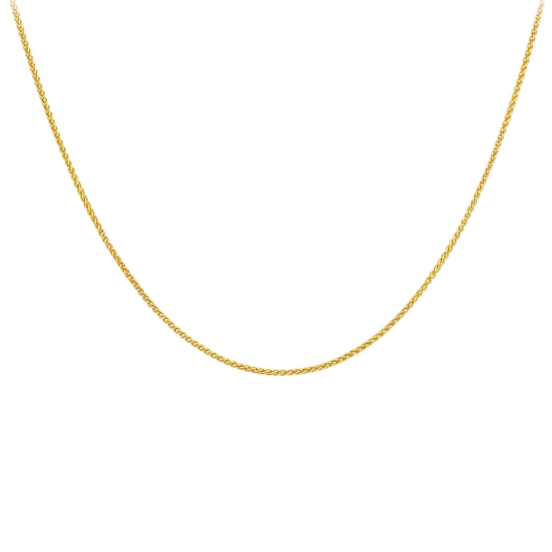 Halsband 9K Guld - Spigalänk 46 cm