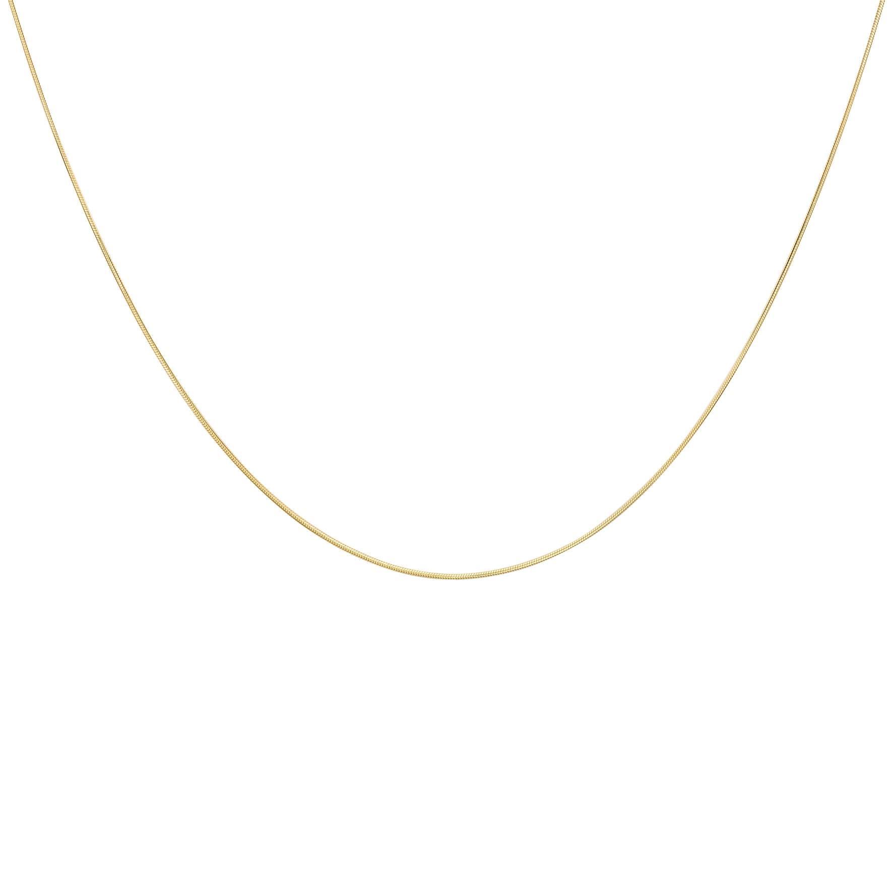 Halsband 9K Guld -Ormlänk 46 cm