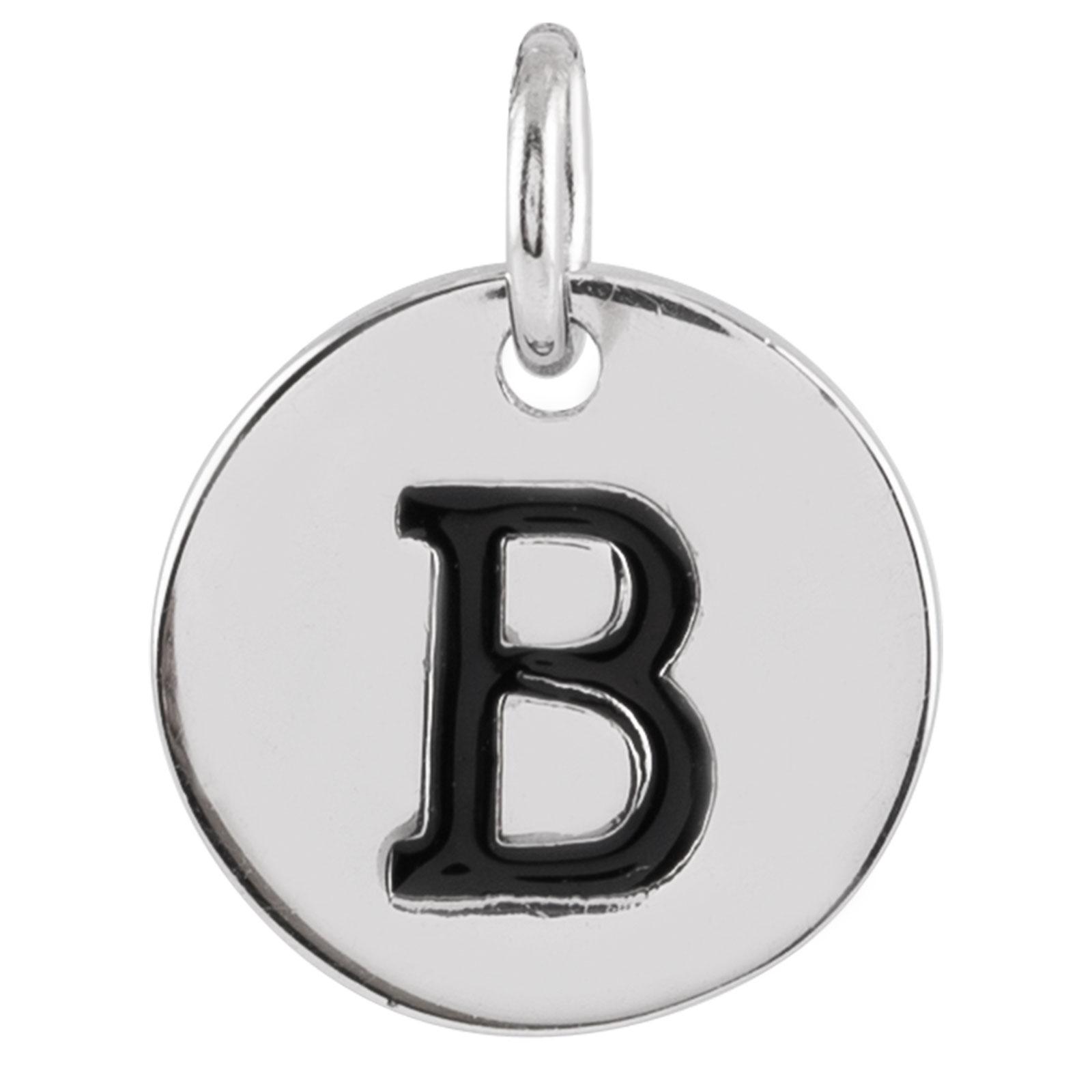 Berlock Silver -Bokstav B 10mm