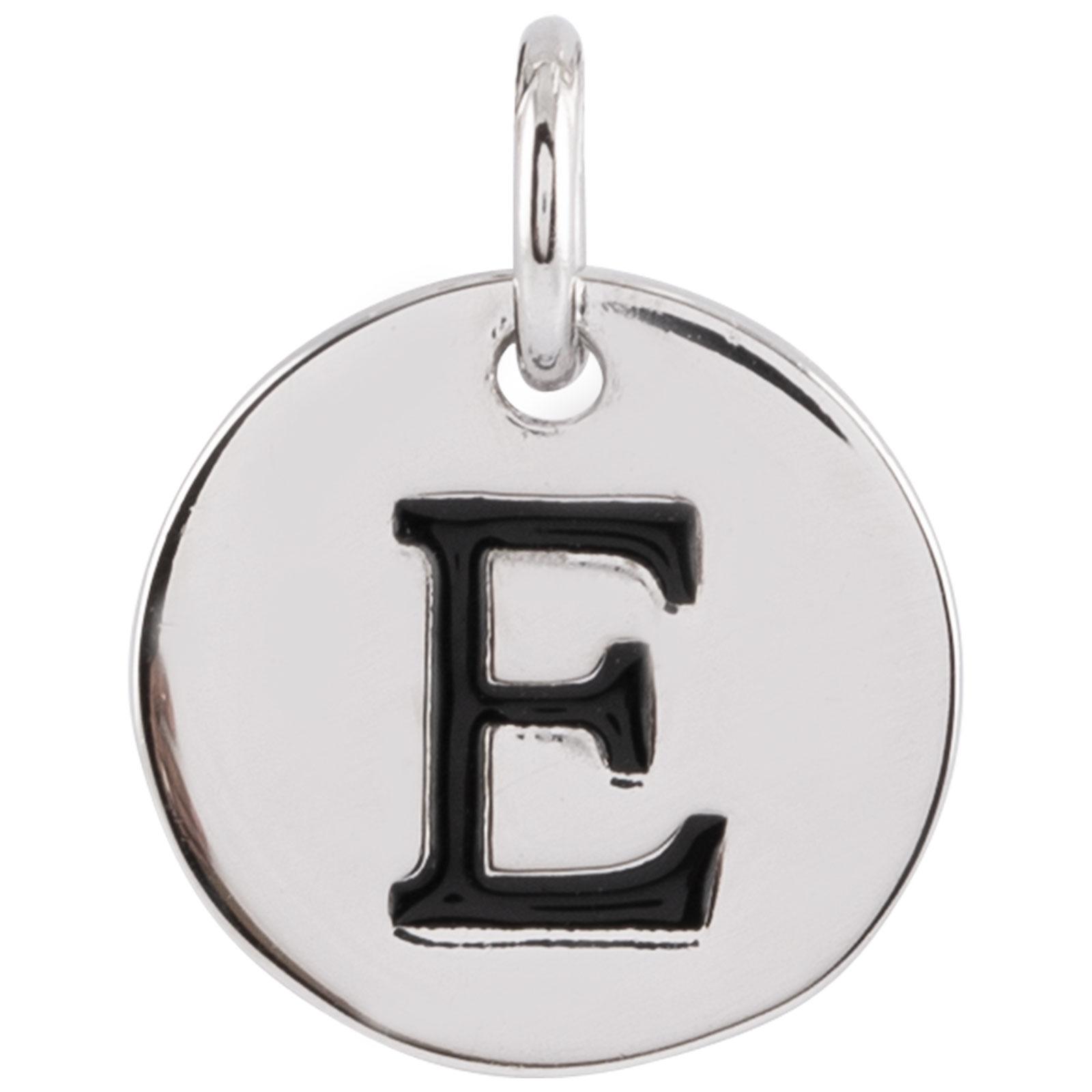 Berlock Silver -Bokstav E 10mm