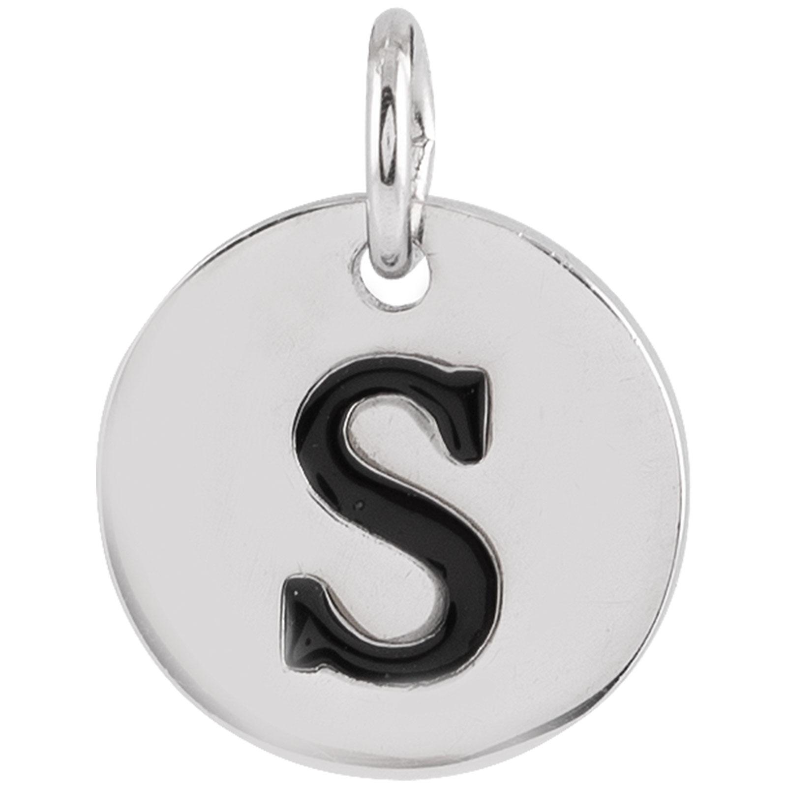 Berlock Silver -Bokstav S 10mm