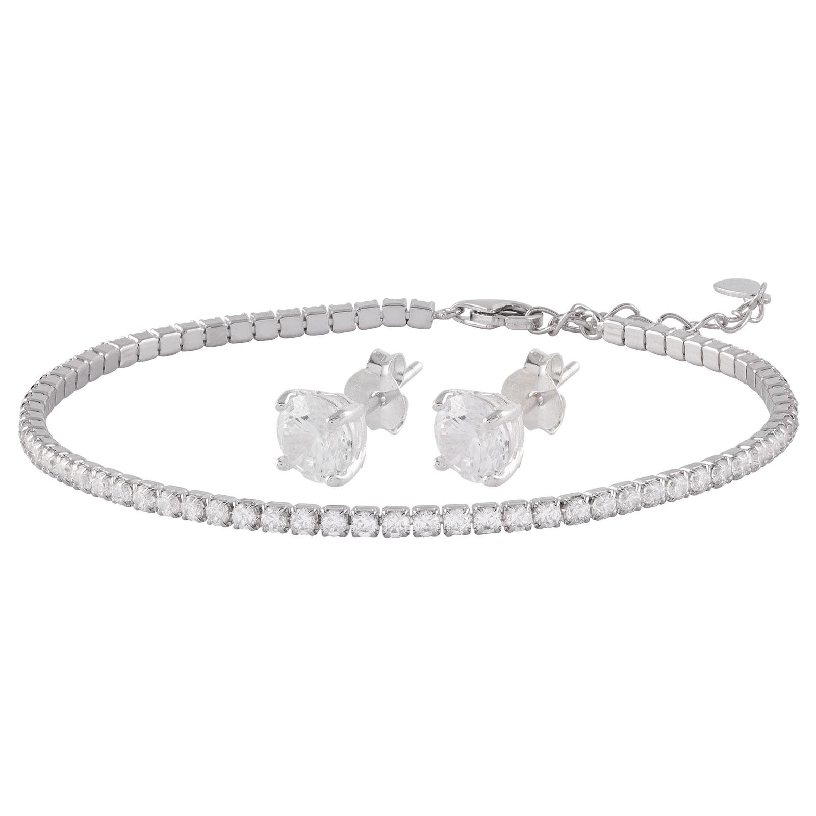 Set Sterling Silver 925 - armband och örhängen