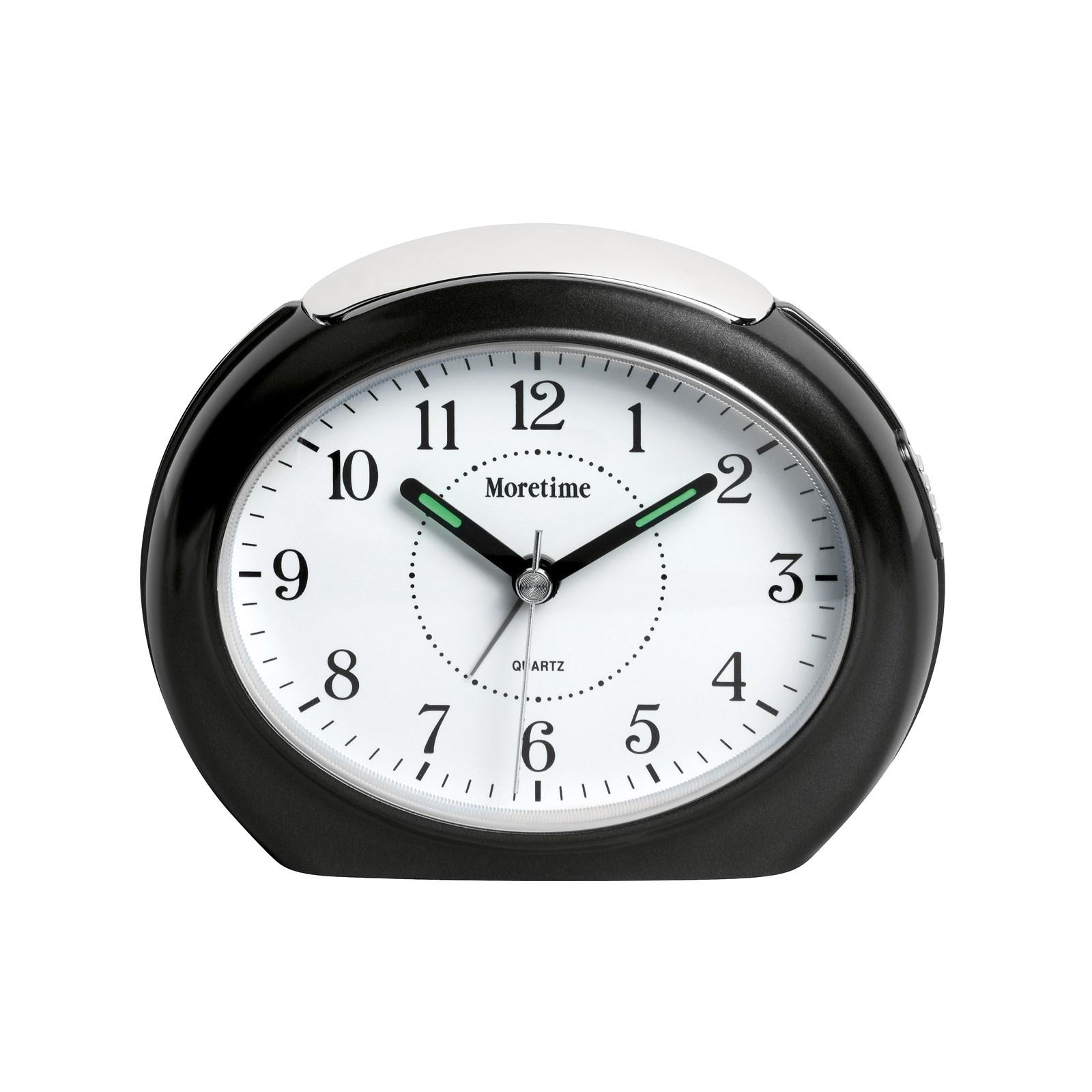 Oval väckarklocka - Grå