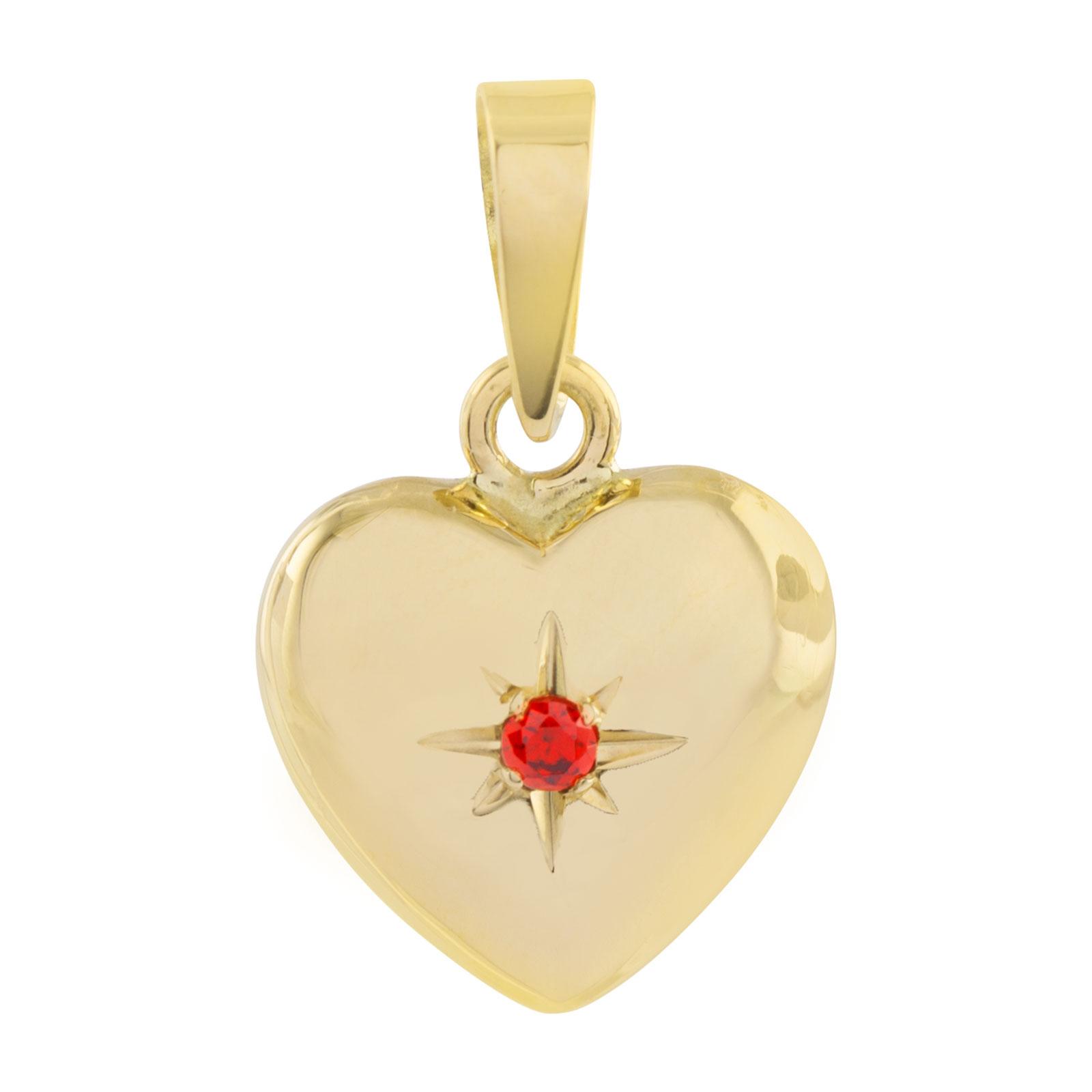 18K Guldhänge hjärta