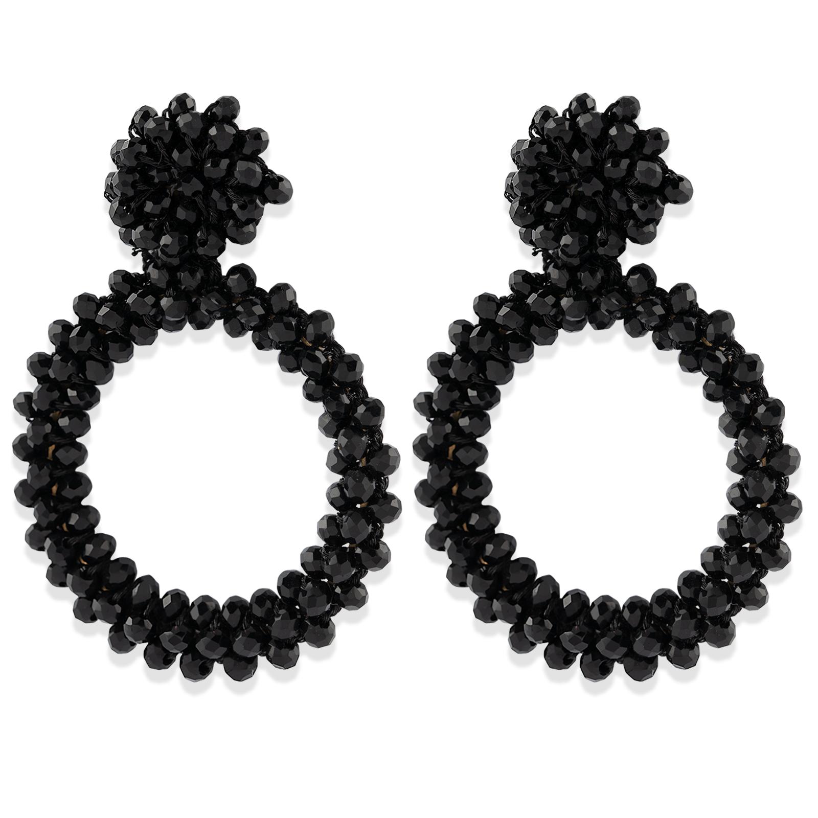 Montini Trend Örhängen med Svarta pärlor