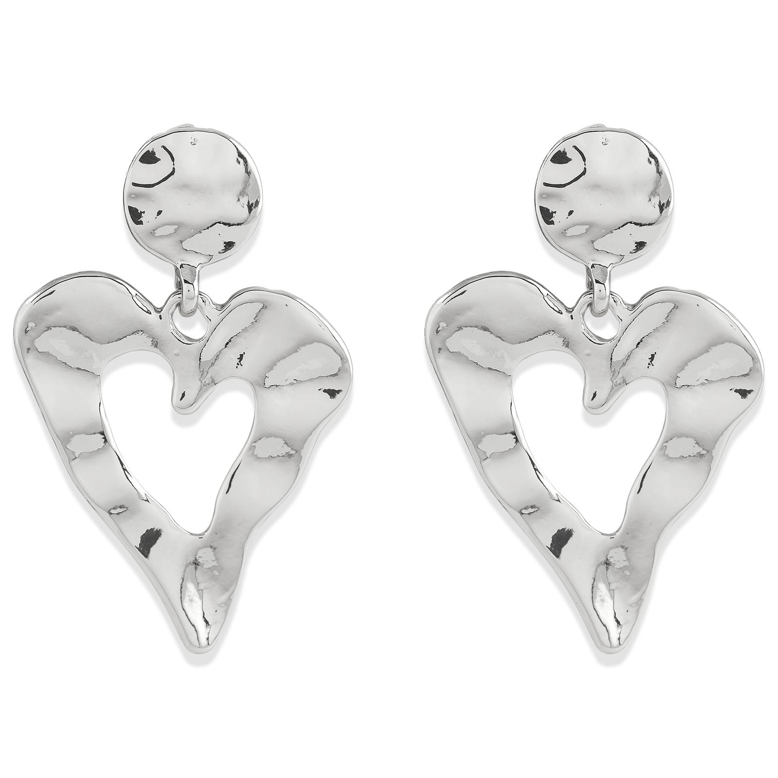 Örhängen Hjärtan silver Montini