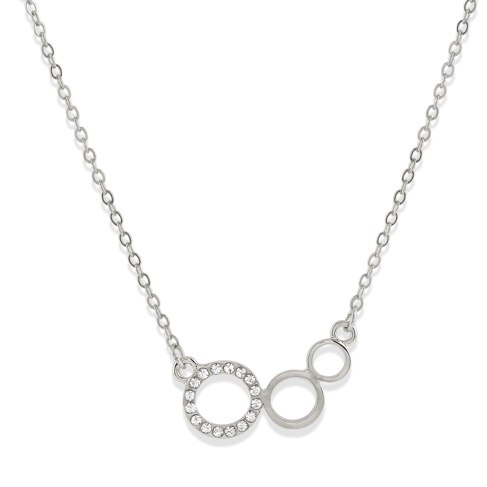 Halsband med cirklar silver Montini