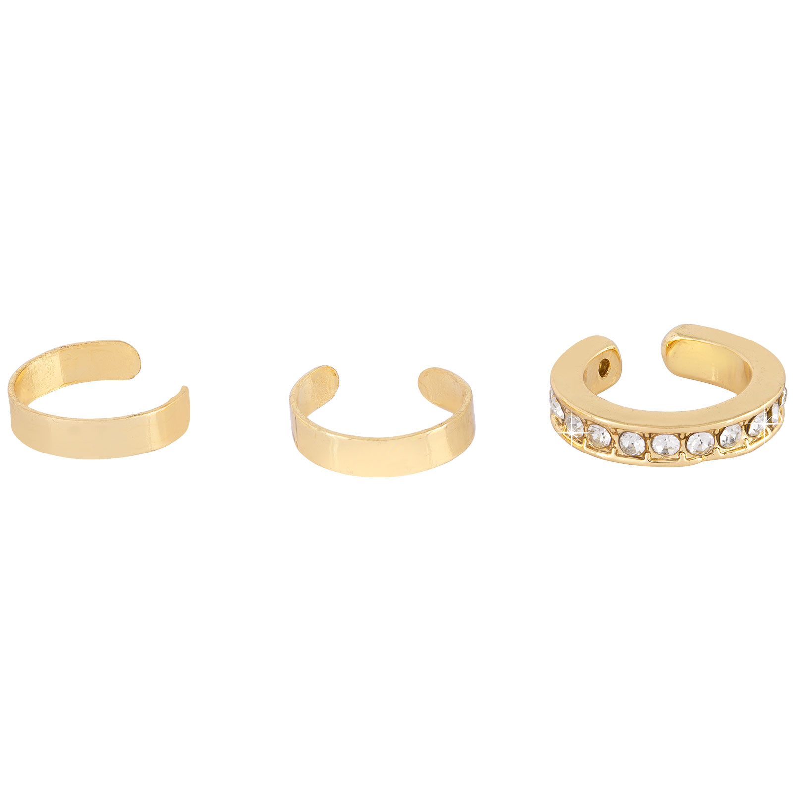 3-pack Ear Cuffs Guld Montini