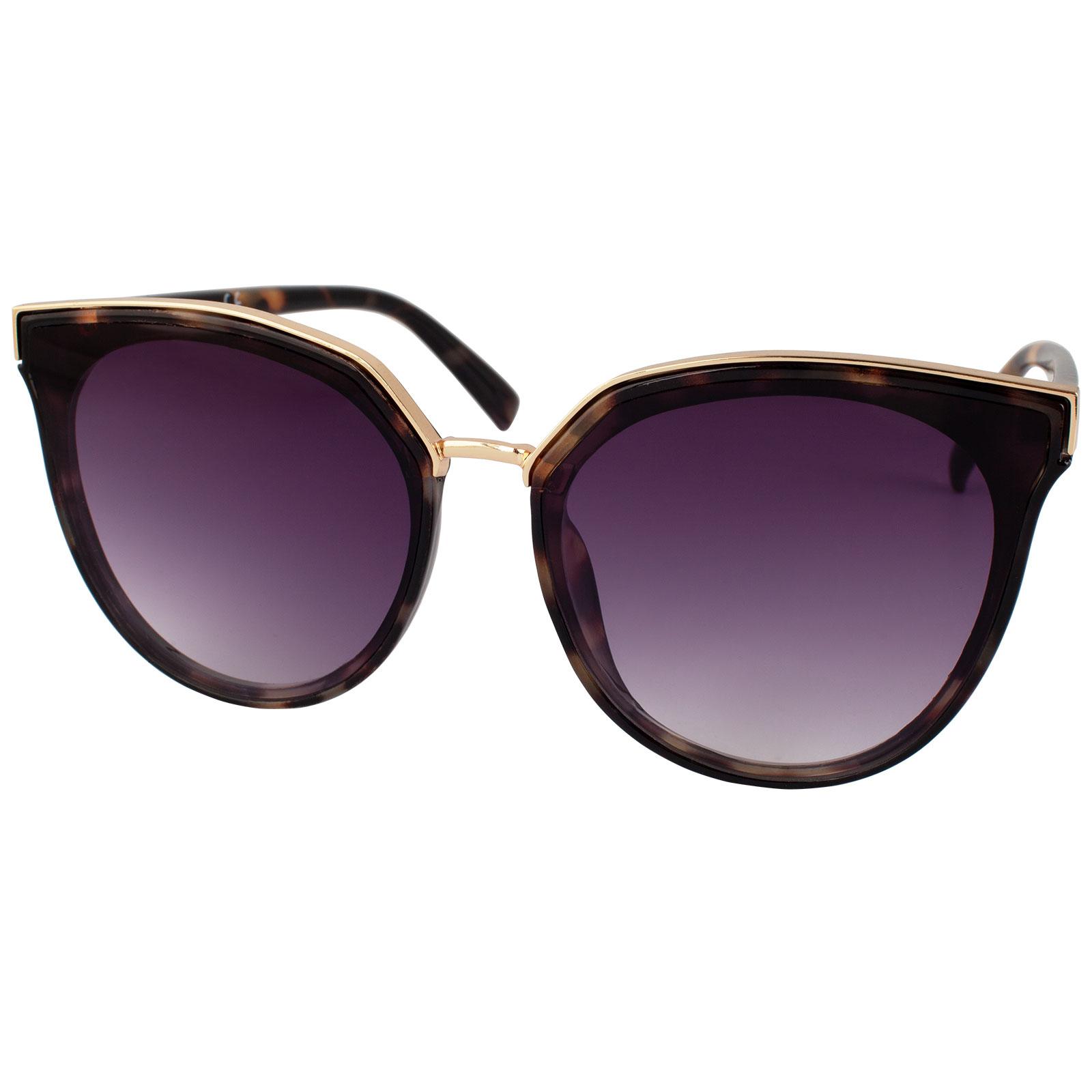 Solglasögon brunmelerade med guldram Montini