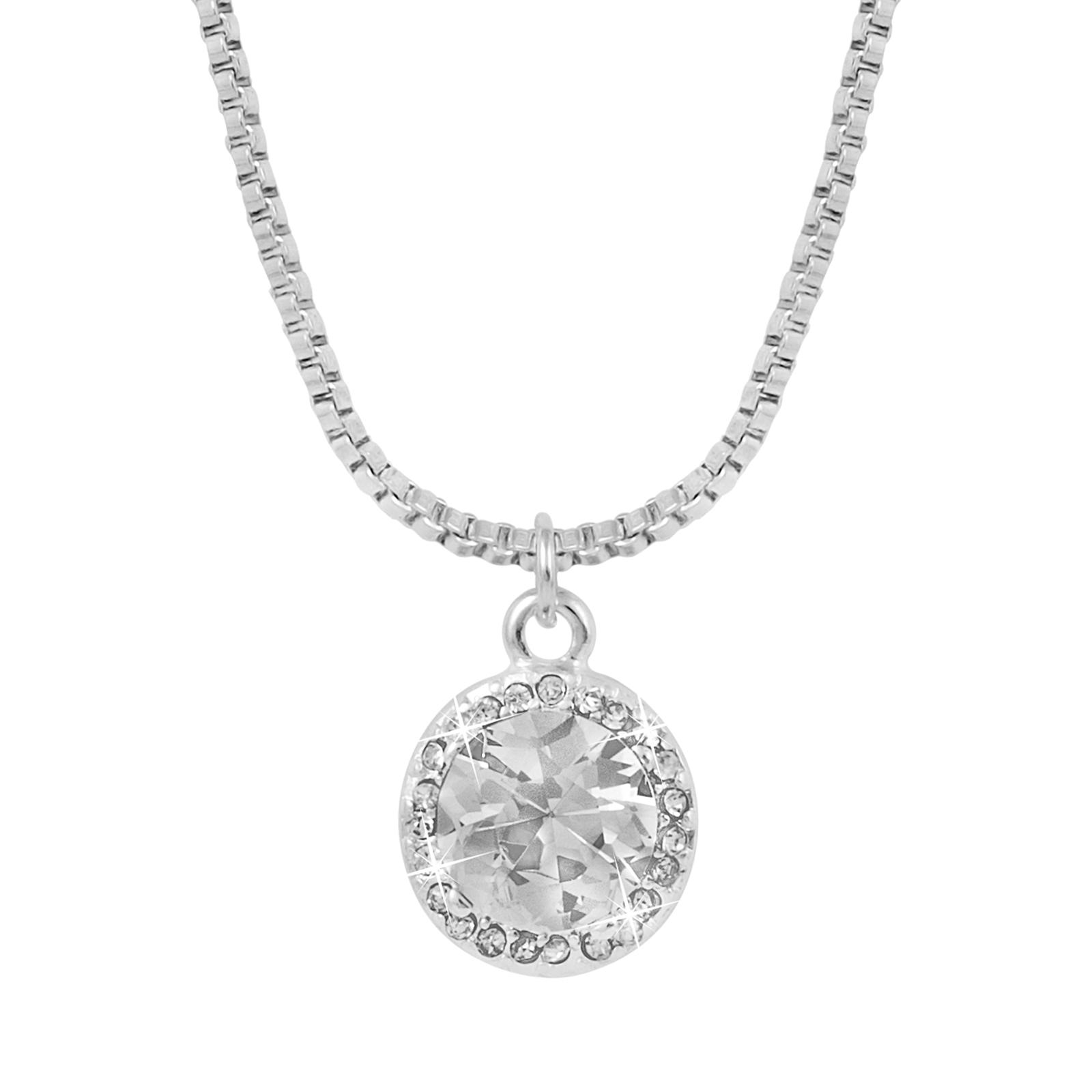 Montini halsband Kristall Silver