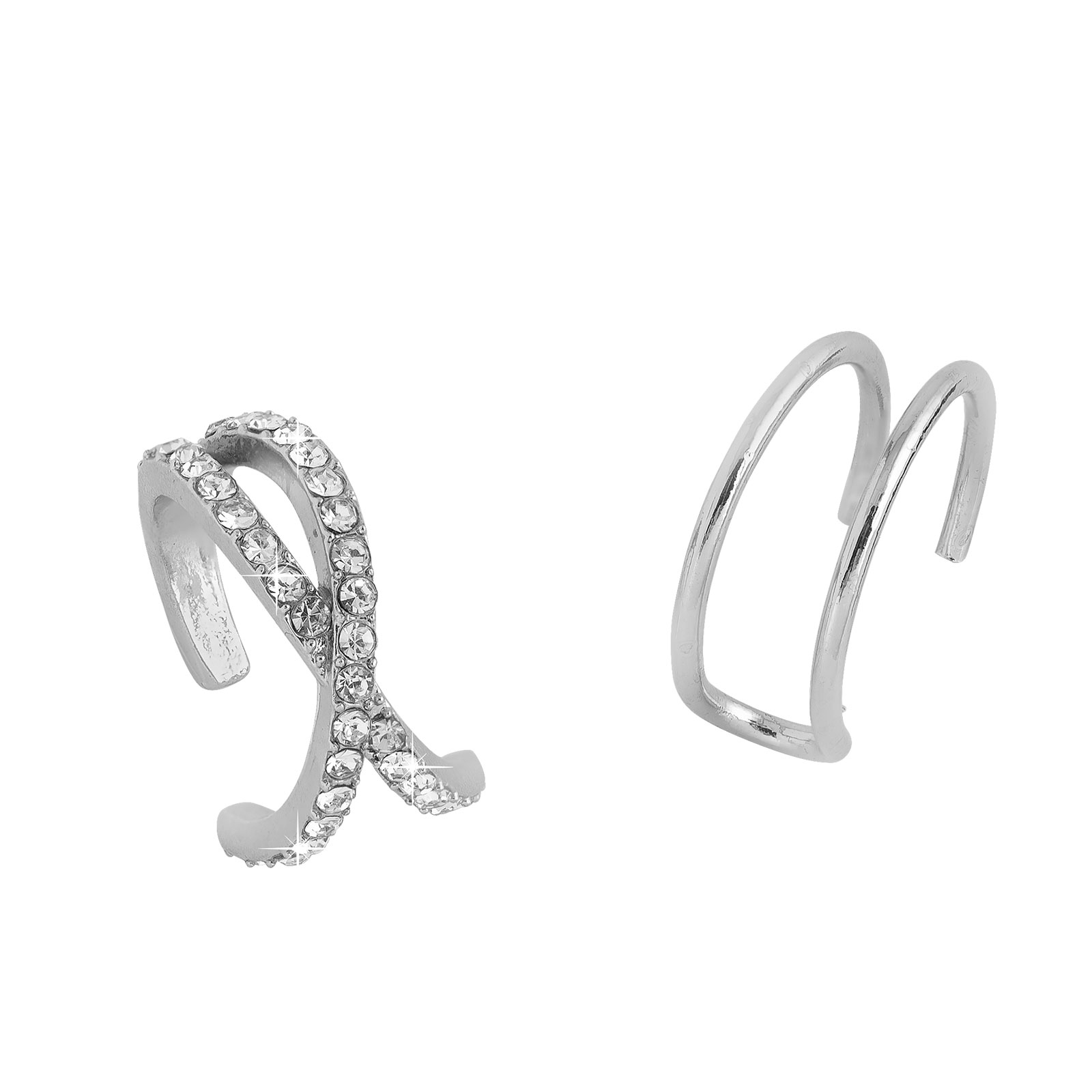 2-pack Ear cuffs silver Montini