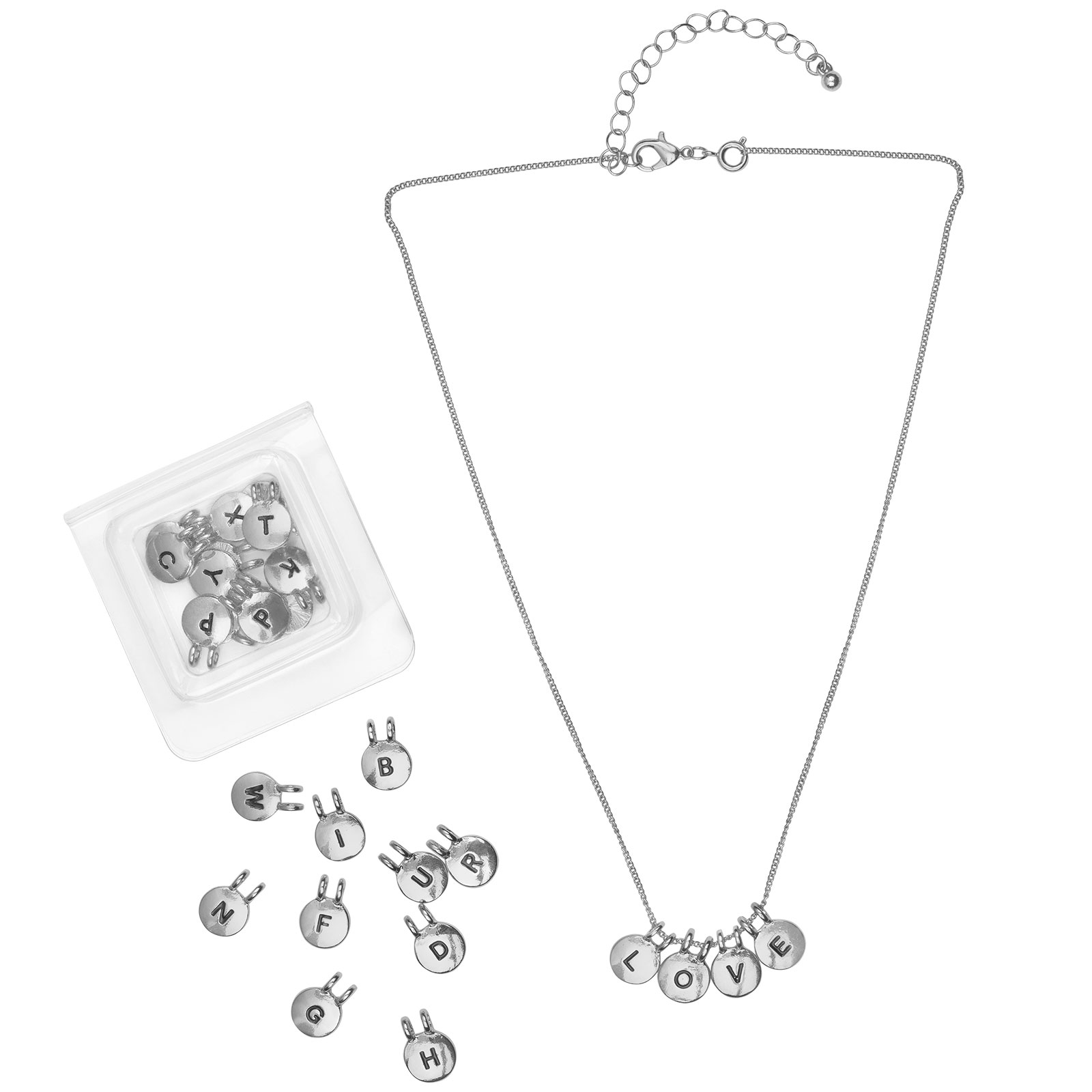 Montini Halsband med bokstäver Silver