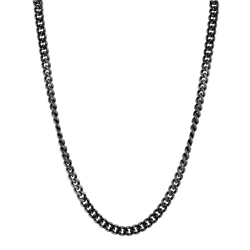 Halsband stål grå pansarlänk - Herr