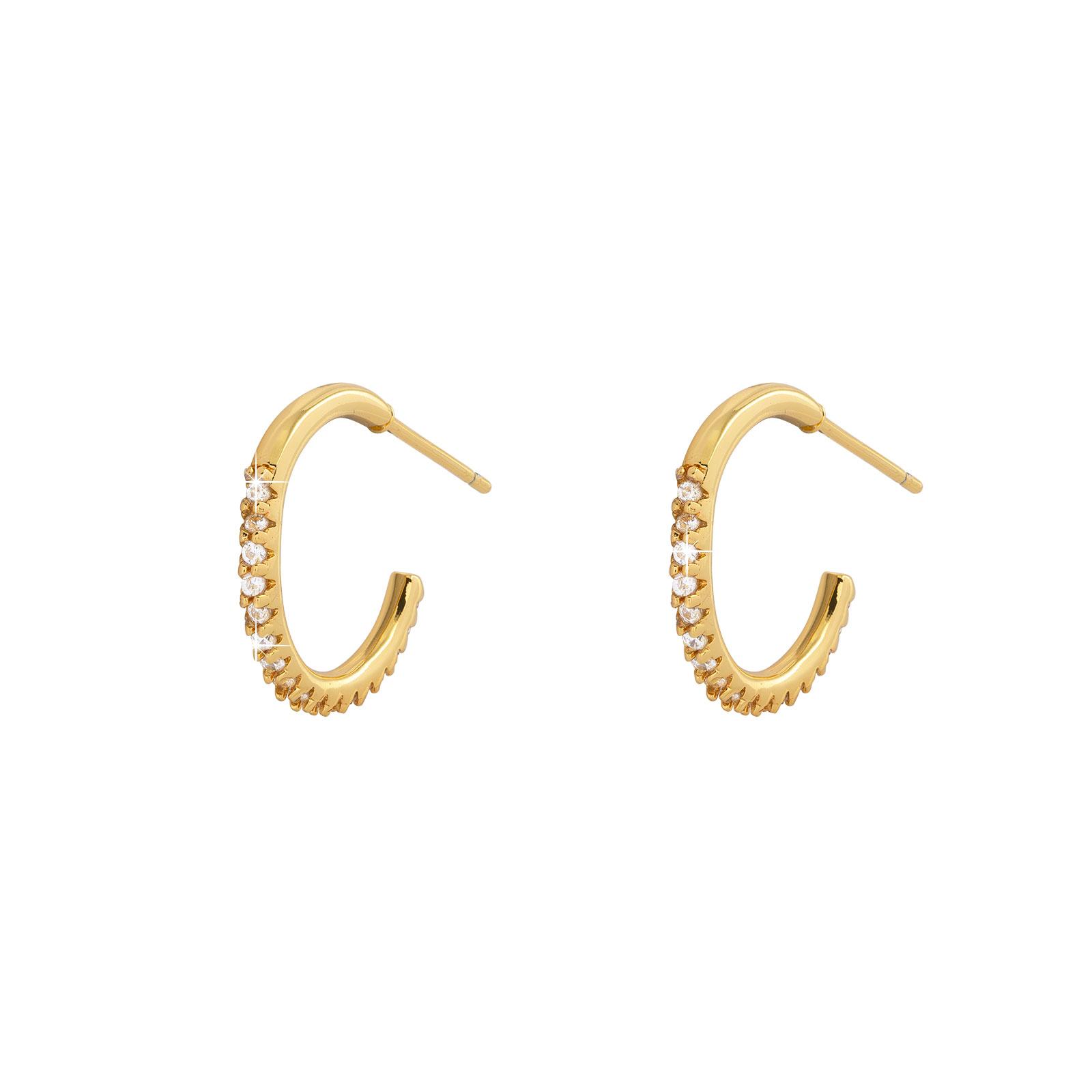 Guldpläterade örhängen -creoler 18 mm